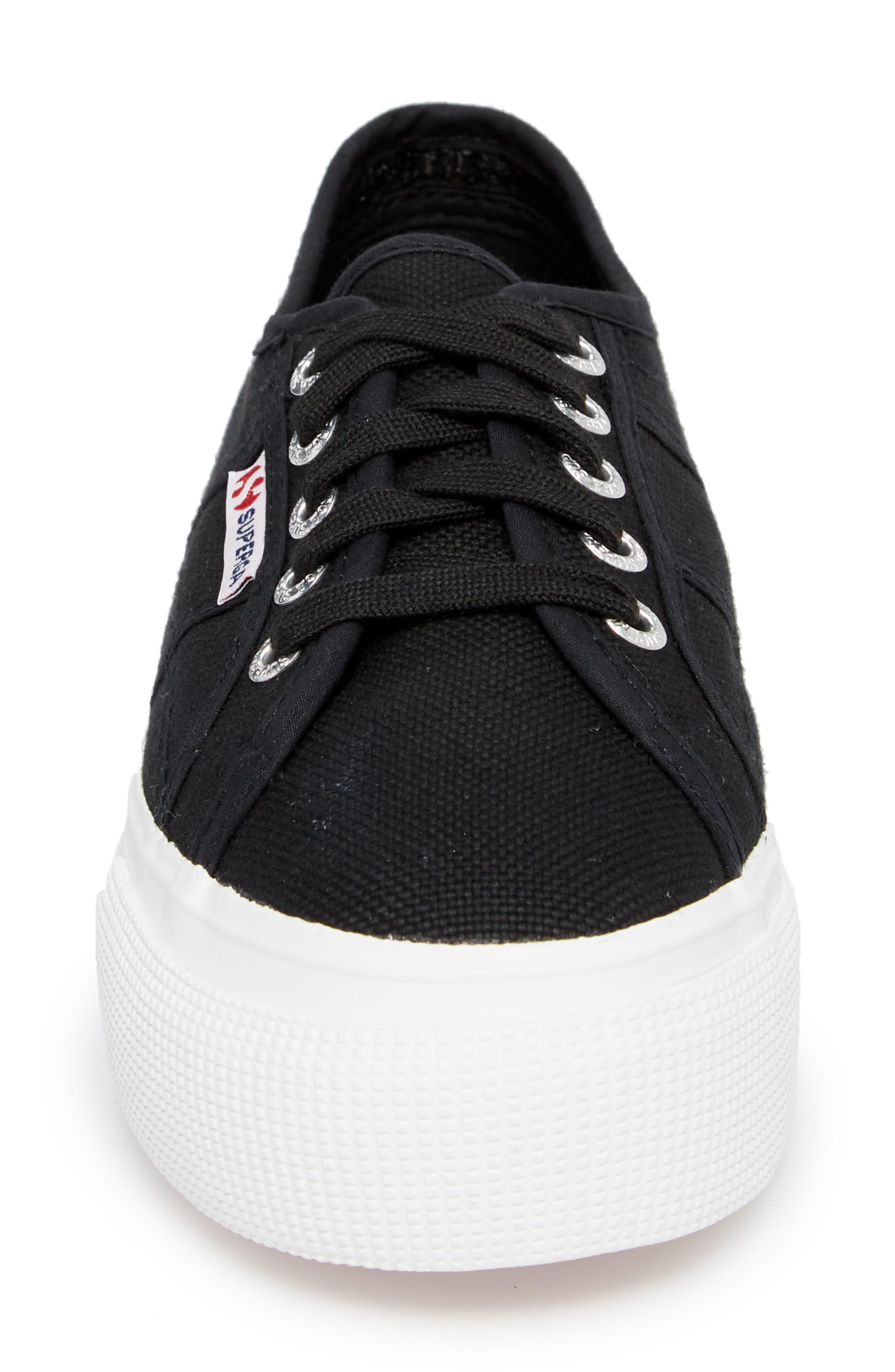 'Acot Linea' Sneaker,                             Alternate thumbnail 4, color,                             BLACK/ WHITE