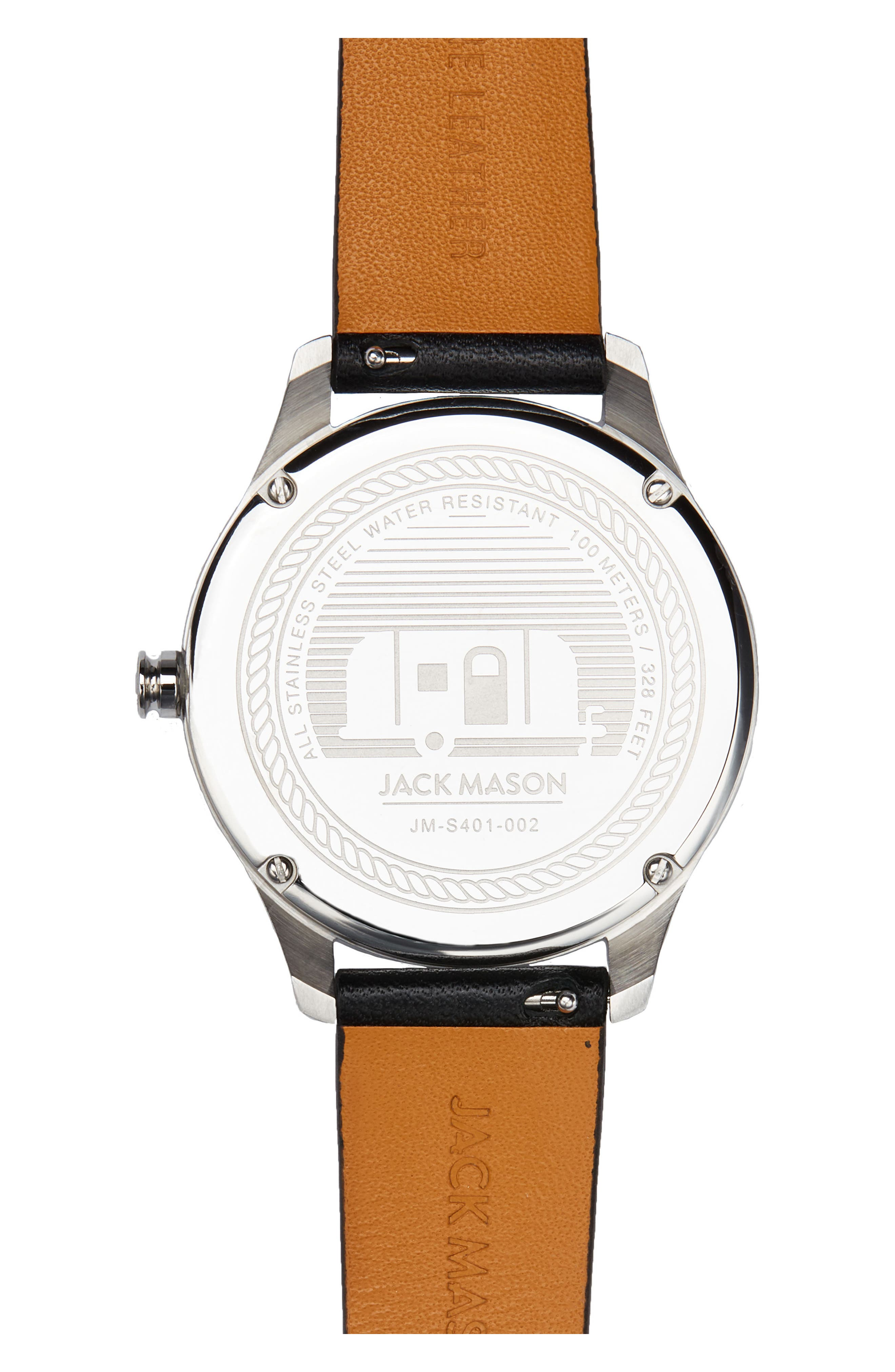 Slim Leather Strap Watch, 38mm,                             Alternate thumbnail 2, color,                             001