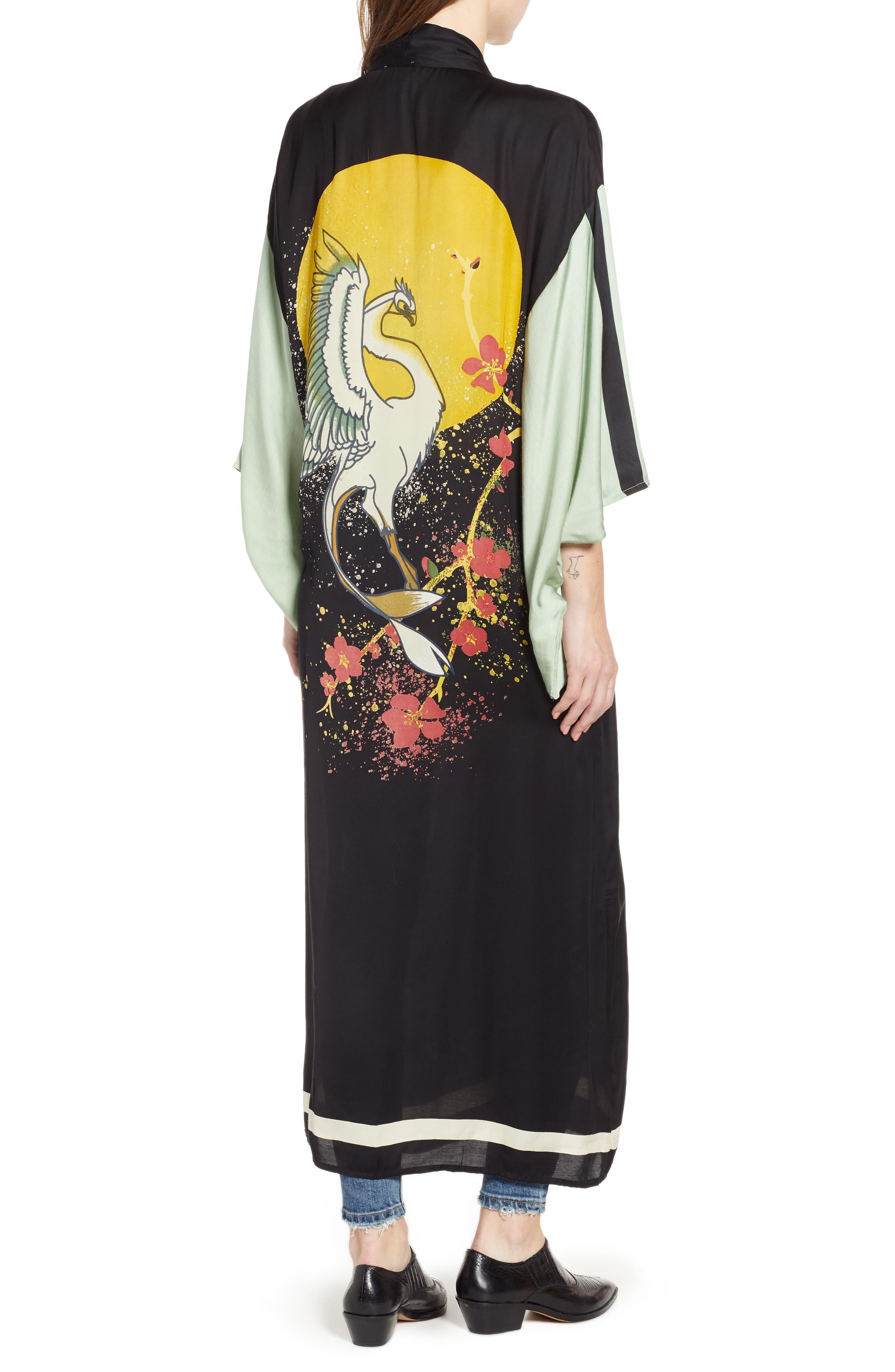 FREE PEOPLE,                             Rising Sun Kimono,                             Alternate thumbnail 2, color,                             001
