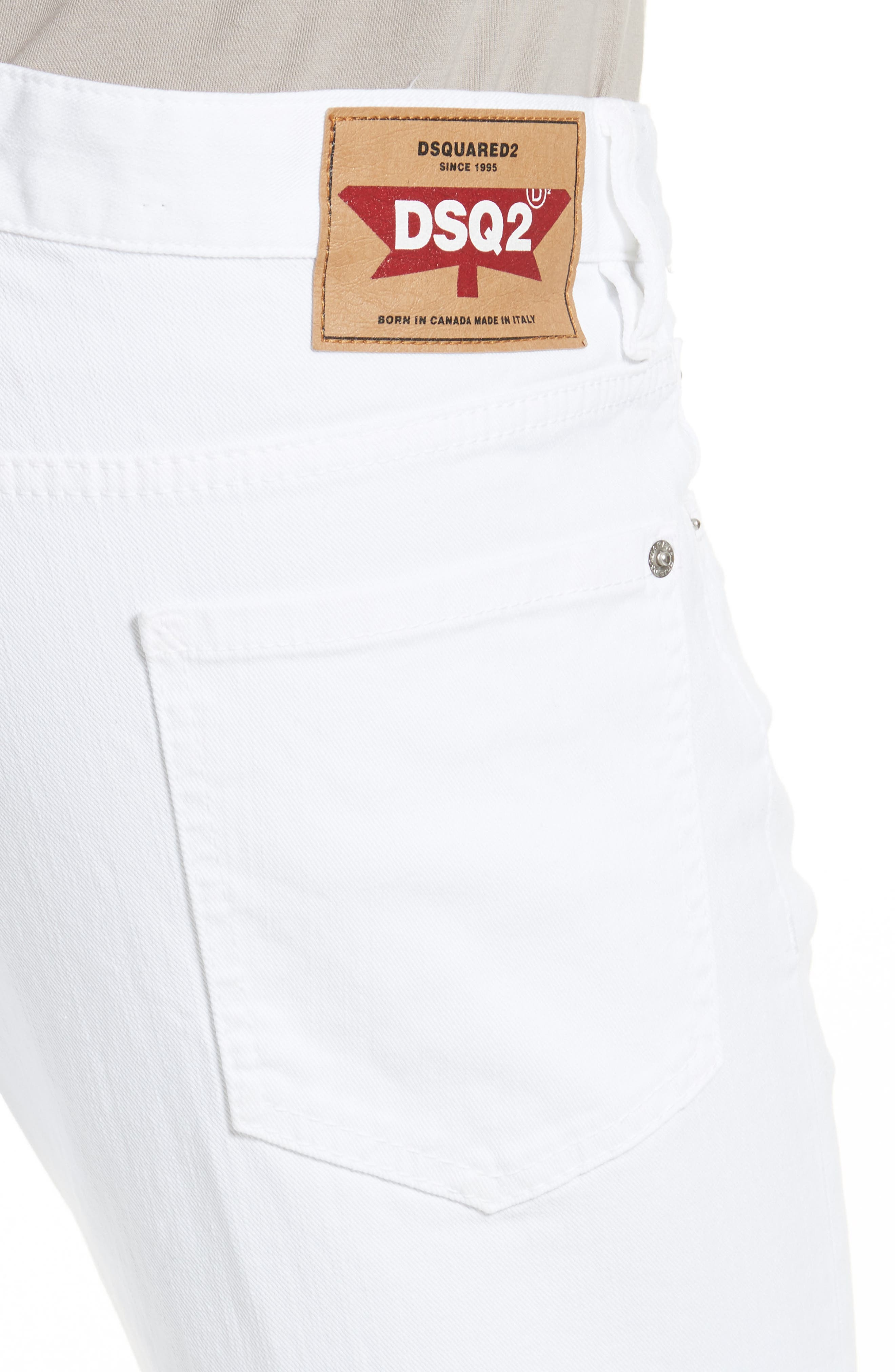 Slim Fit Jeans,                             Alternate thumbnail 4, color,                             WHITE
