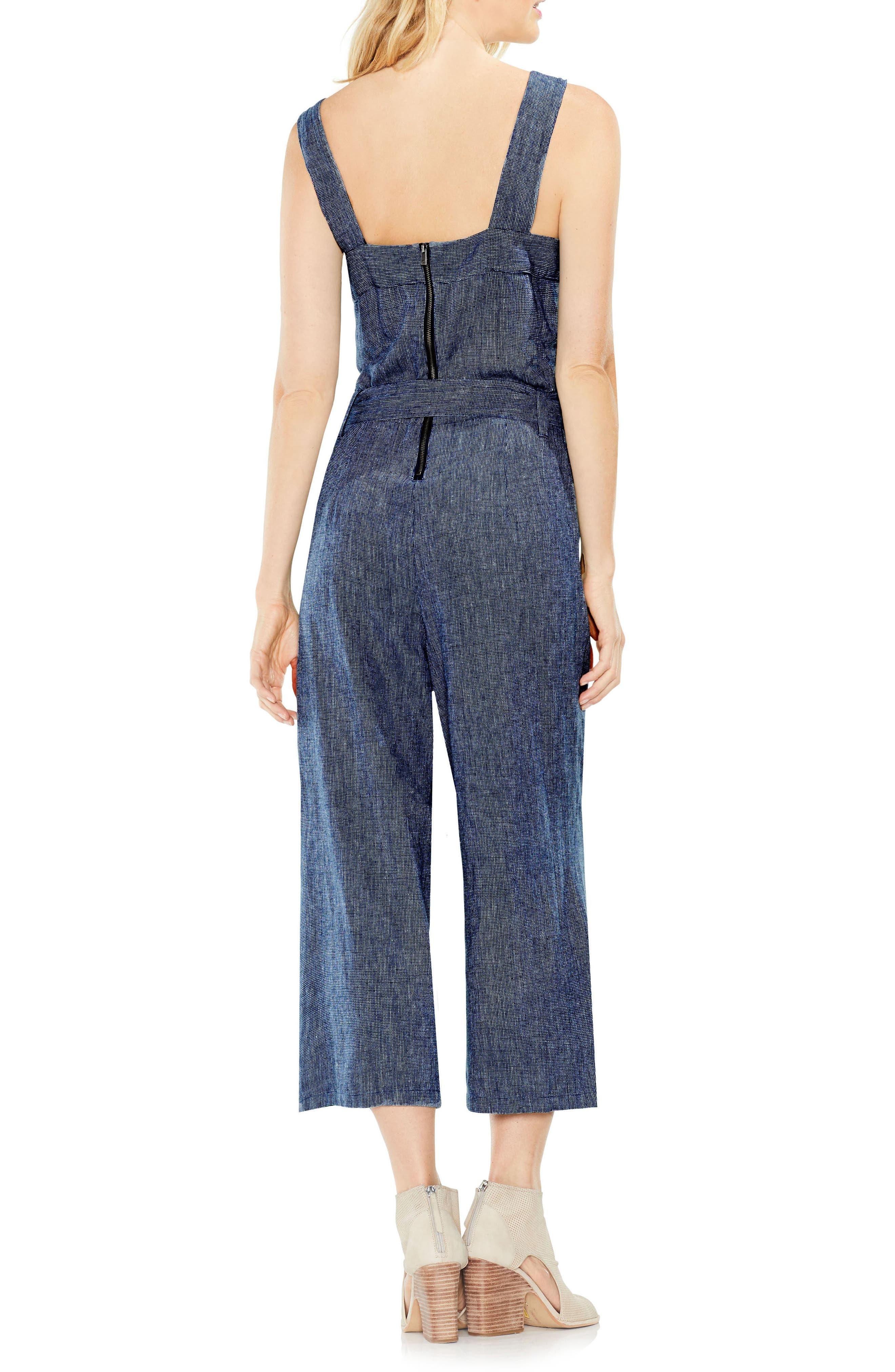 Linen Belted Jumpsuit,                             Alternate thumbnail 2, color,                             462