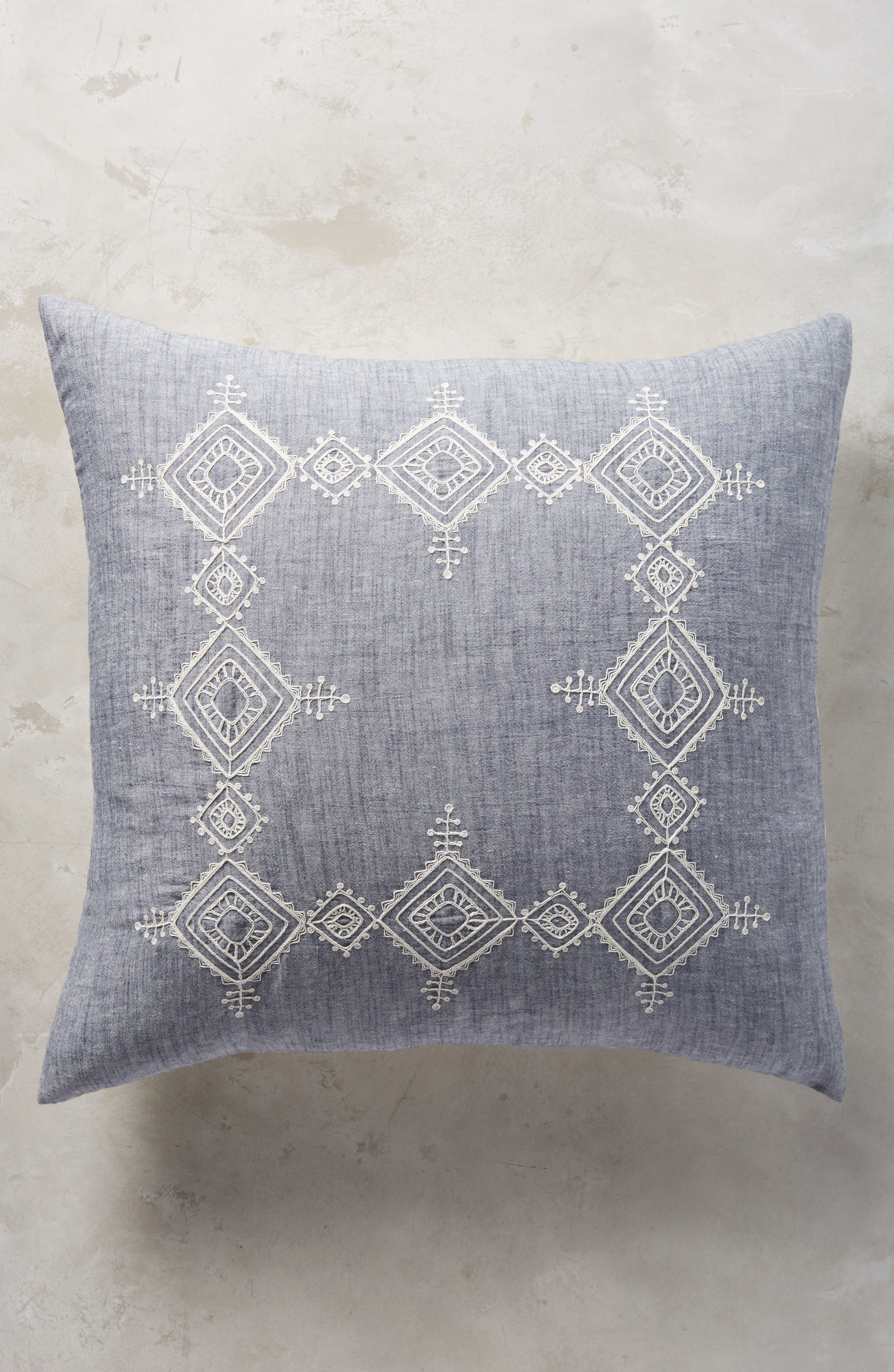 Embroidered Argenta Euro Sham,                             Main thumbnail 1, color,                             400