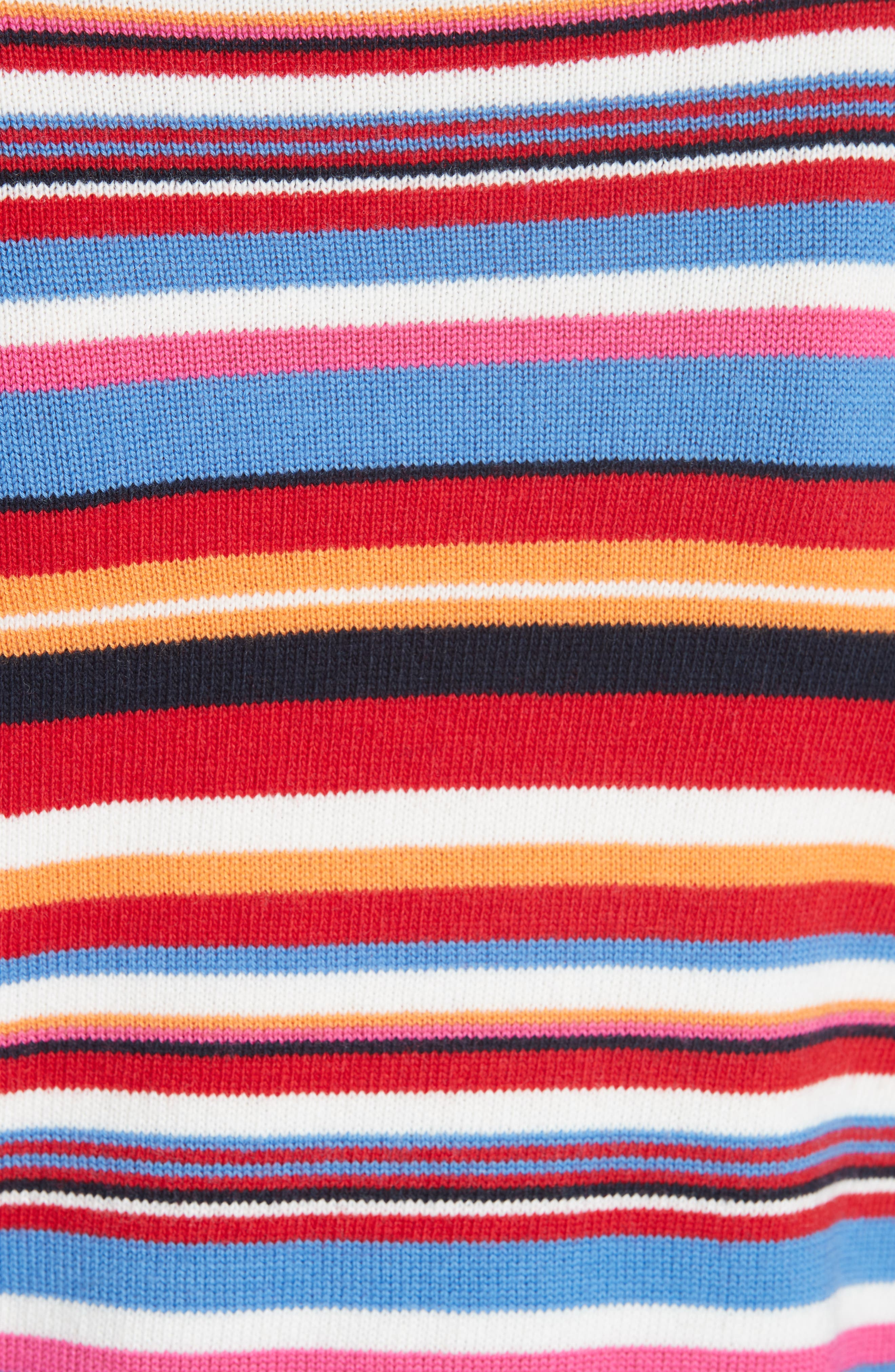 Kit Stripe Scoop Neck Sweater,                             Alternate thumbnail 5, color,                             TORY NAY