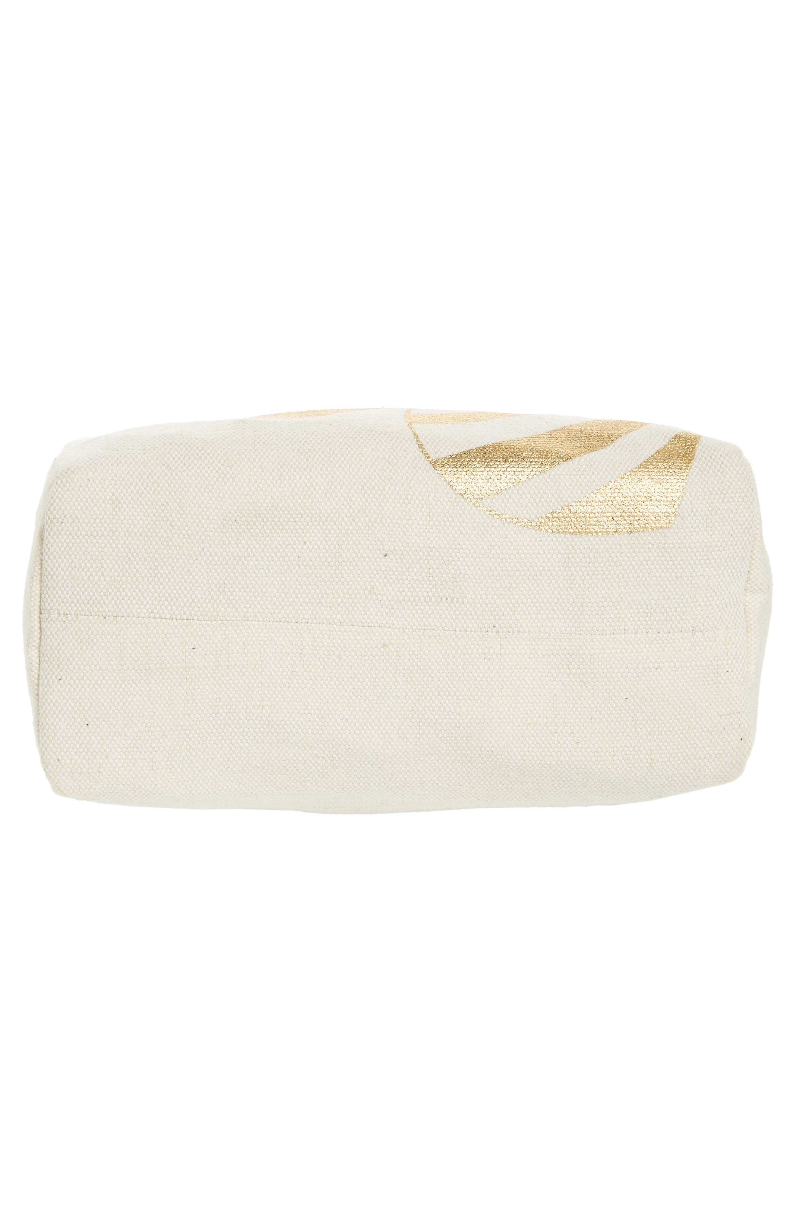Bee Canvas Cosmetic Pouch,                             Alternate thumbnail 5, color,                             710