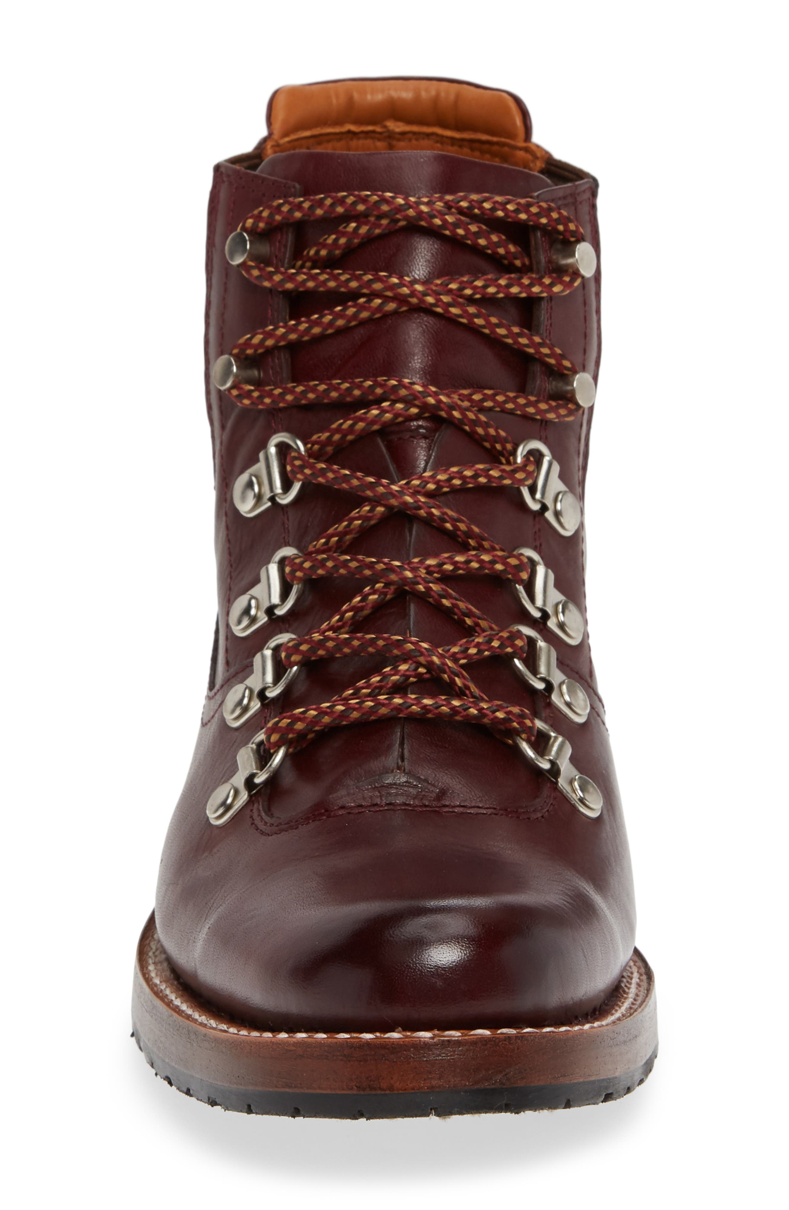 by Ariat Victoria Hiking Bootie,                             Alternate thumbnail 4, color,                             CORDOVAN LEATHER