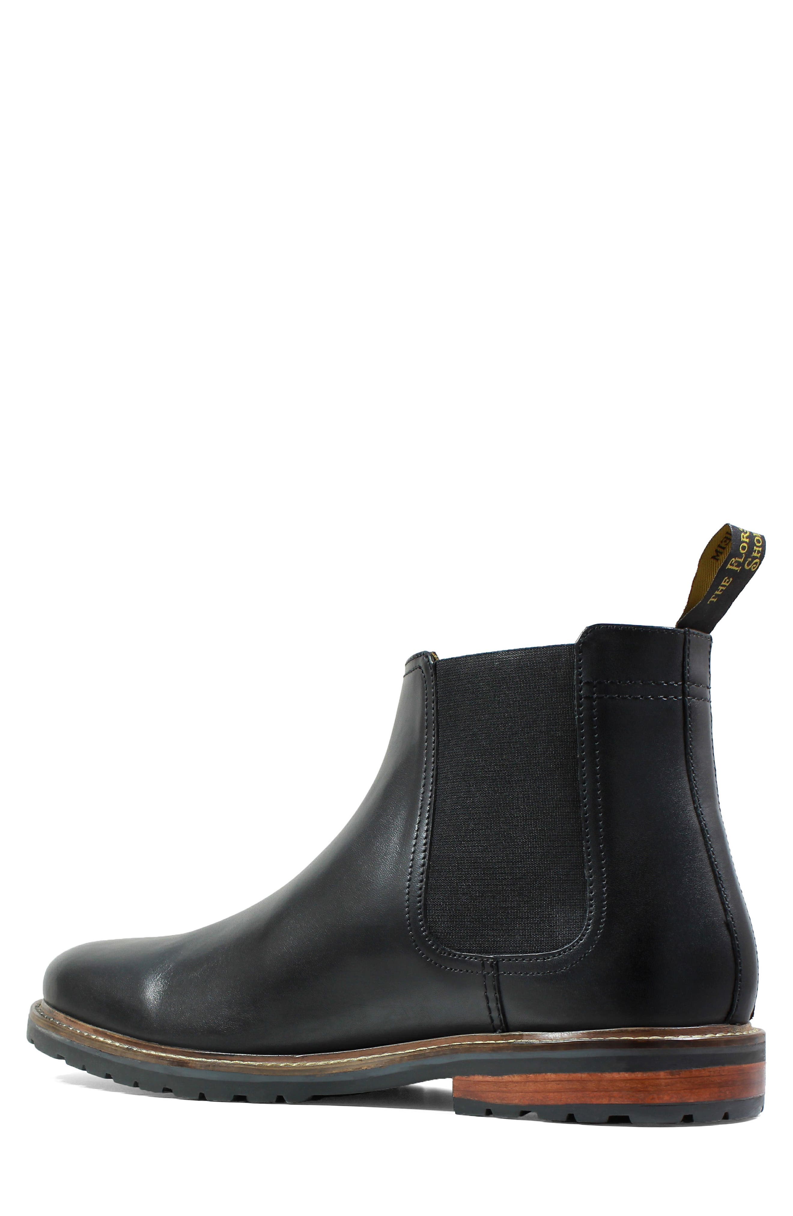 Estabrook Mid Chelsea Boot,                             Alternate thumbnail 2, color,                             BLACK LEATHER