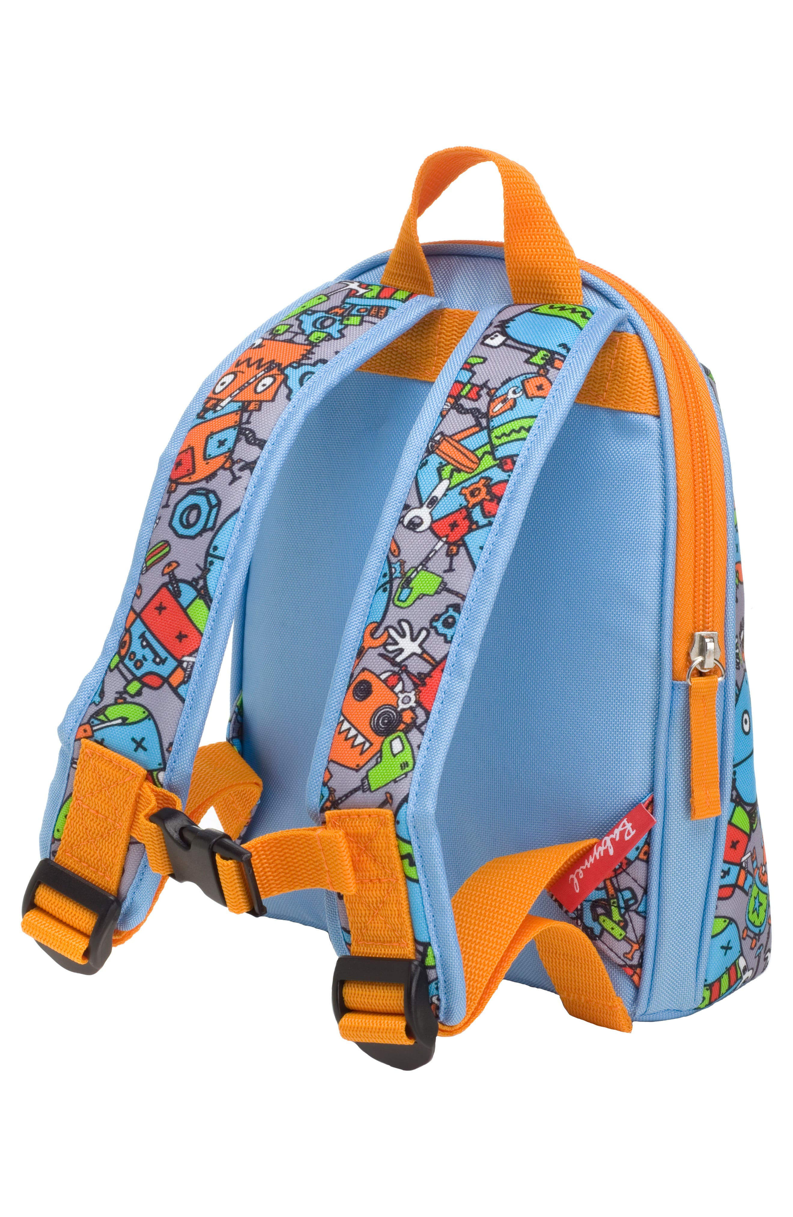 Zip & Zoe Robots Mini Backpack,                             Alternate thumbnail 4, color,                             ROBOTS