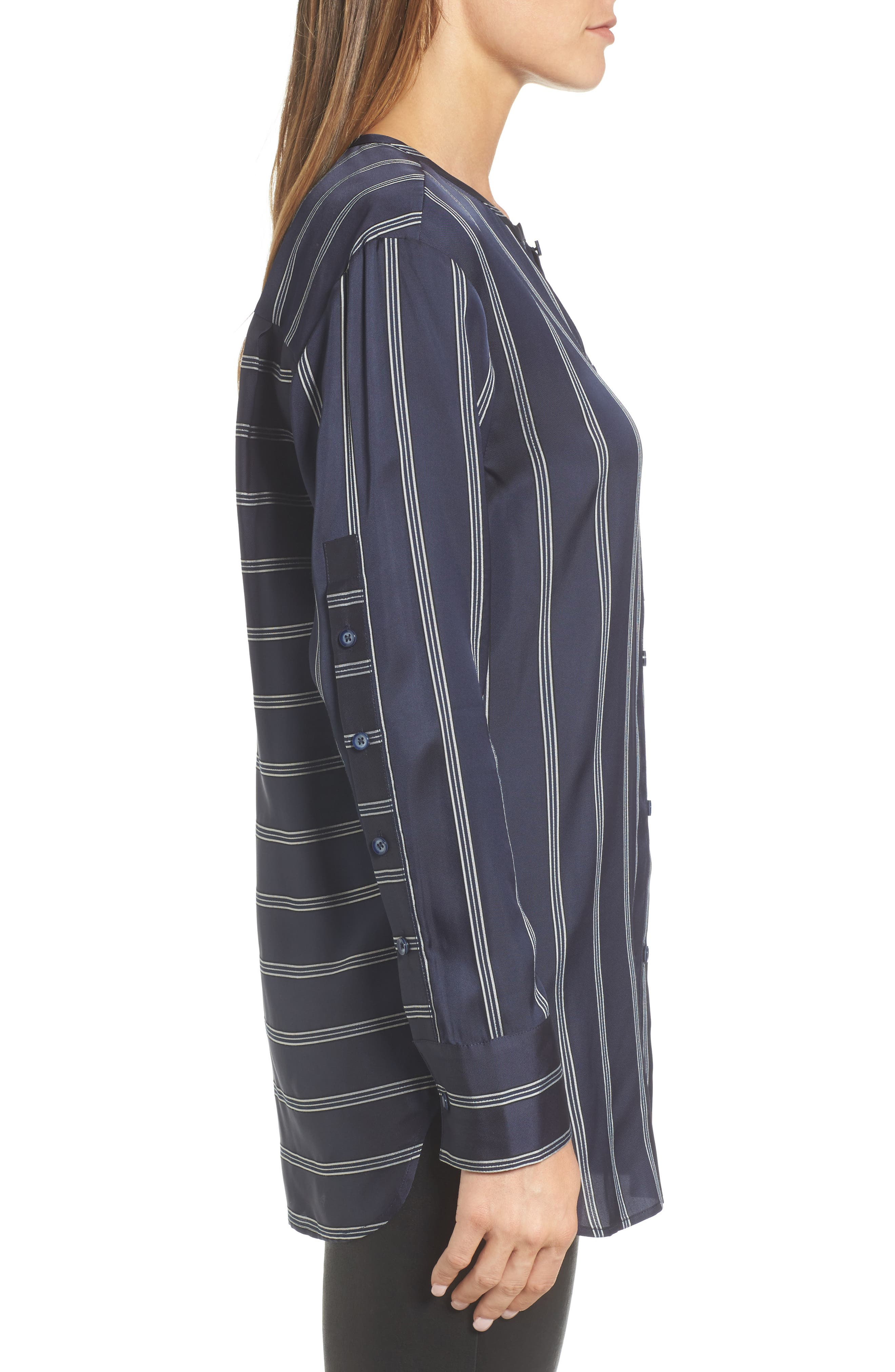 Striped Patch Pocket Shirt,                             Alternate thumbnail 3, color,                             410