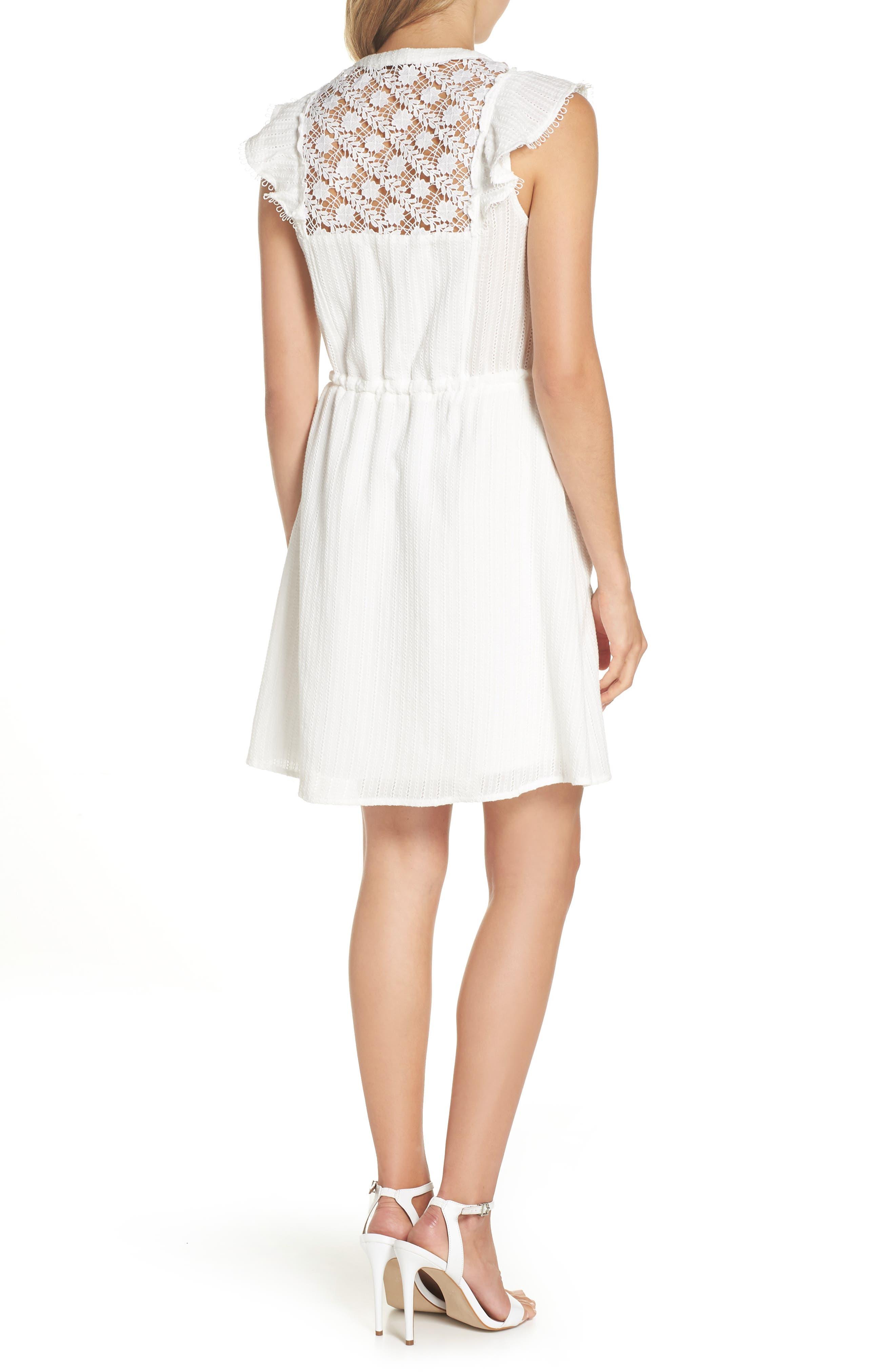 Oli Ruffle Lace Dress,                             Alternate thumbnail 2, color,