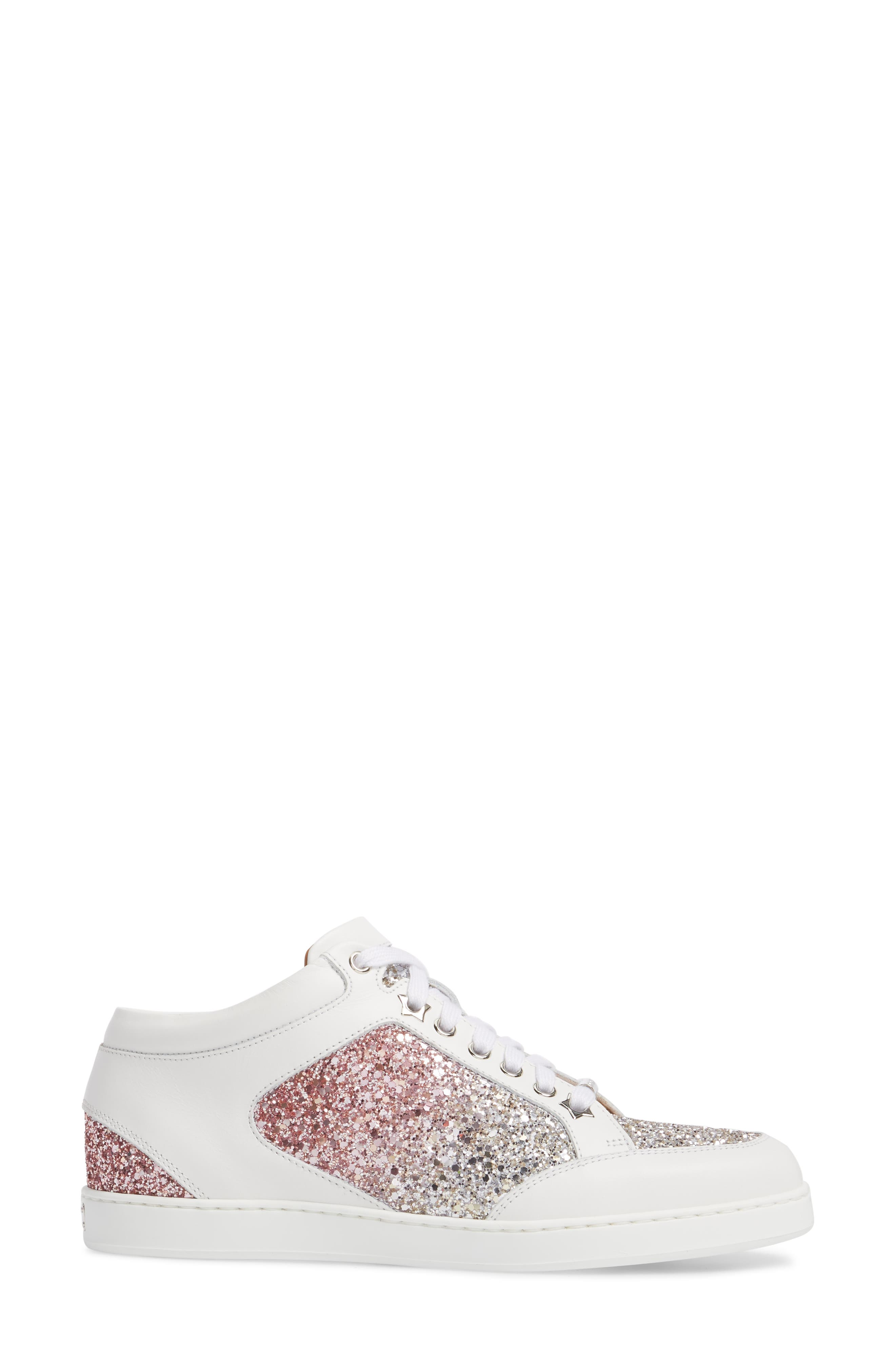 JIMMY CHOO,                             Miami Low Top Sneaker,                             Alternate thumbnail 3, color,                             650