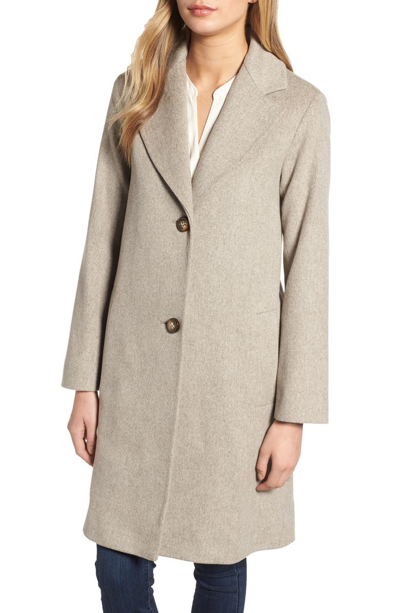 Loro Piana Wool Long Coat,                         Main,                         color, OATMEAL