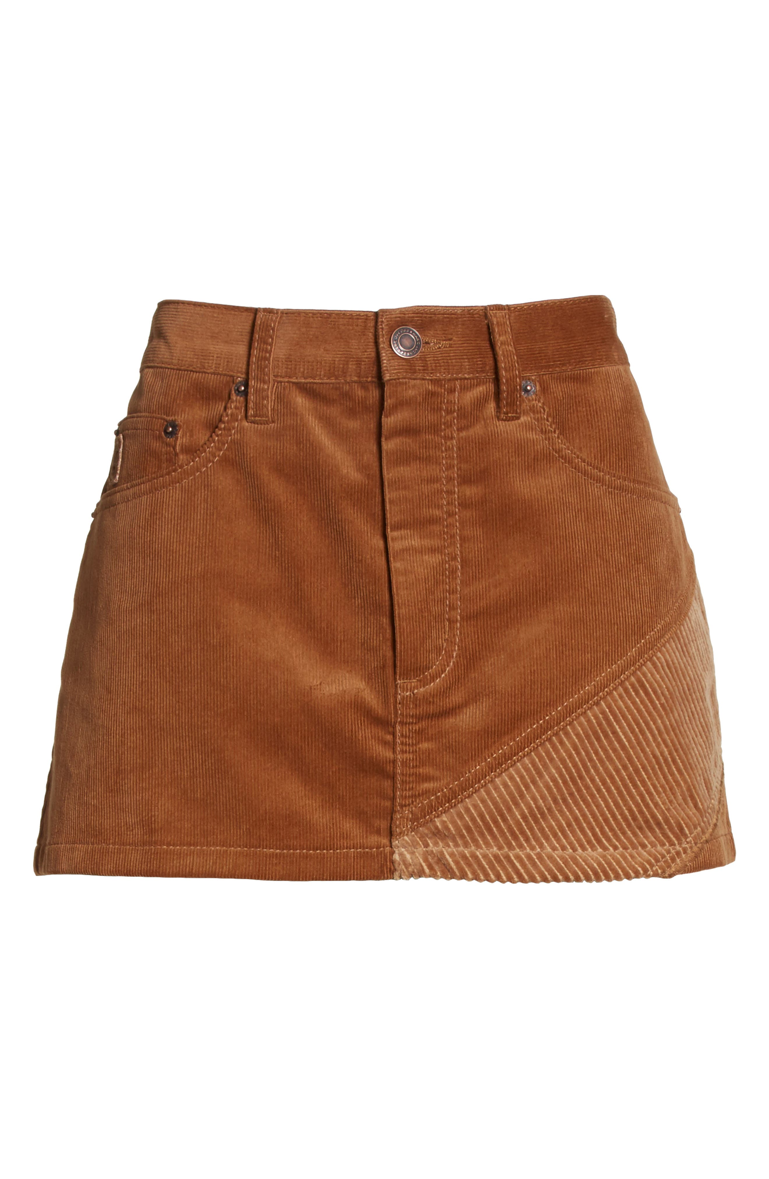 Corduroy Miniskirt,                             Alternate thumbnail 6, color,                             200