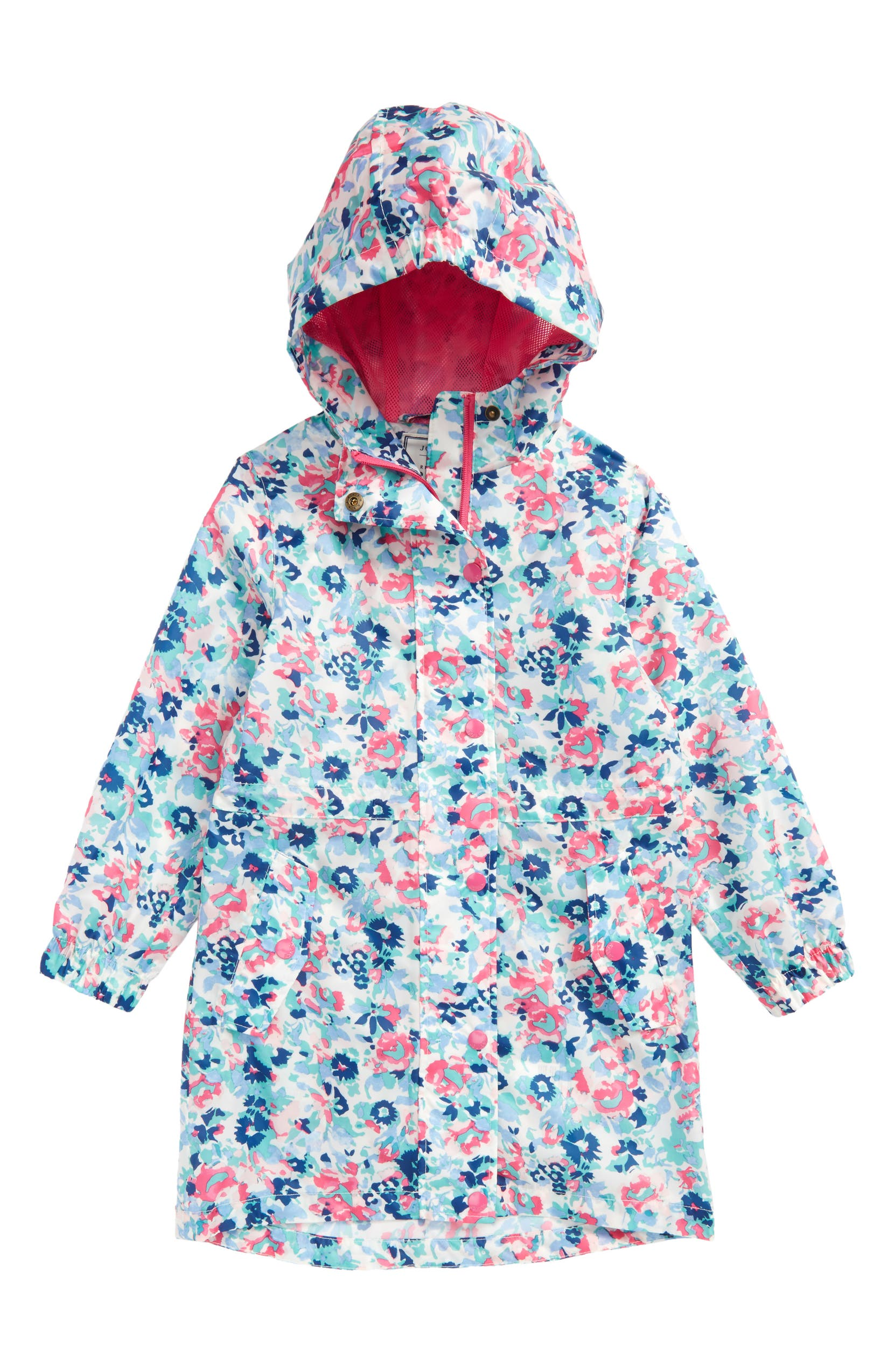 9a7cf3d655ab Joules Print Packaway Raincoat (Toddler Girls