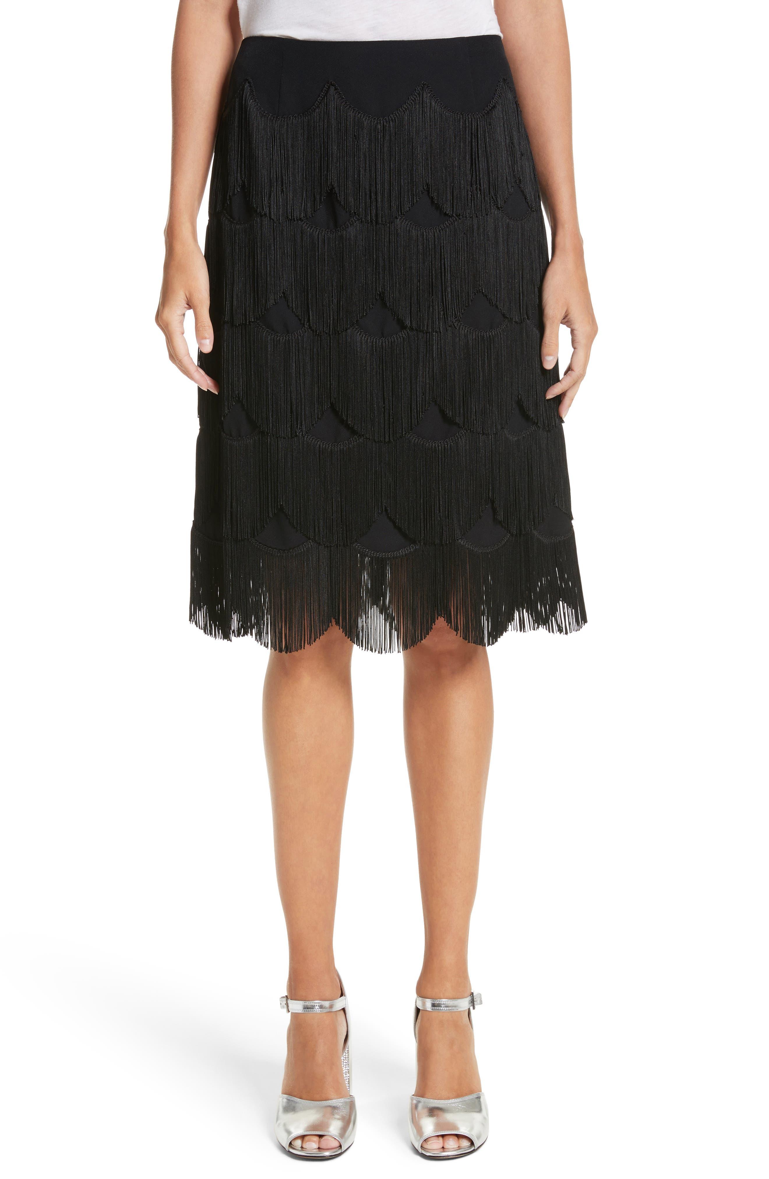 Fringe Skirt,                             Main thumbnail 1, color,                             001