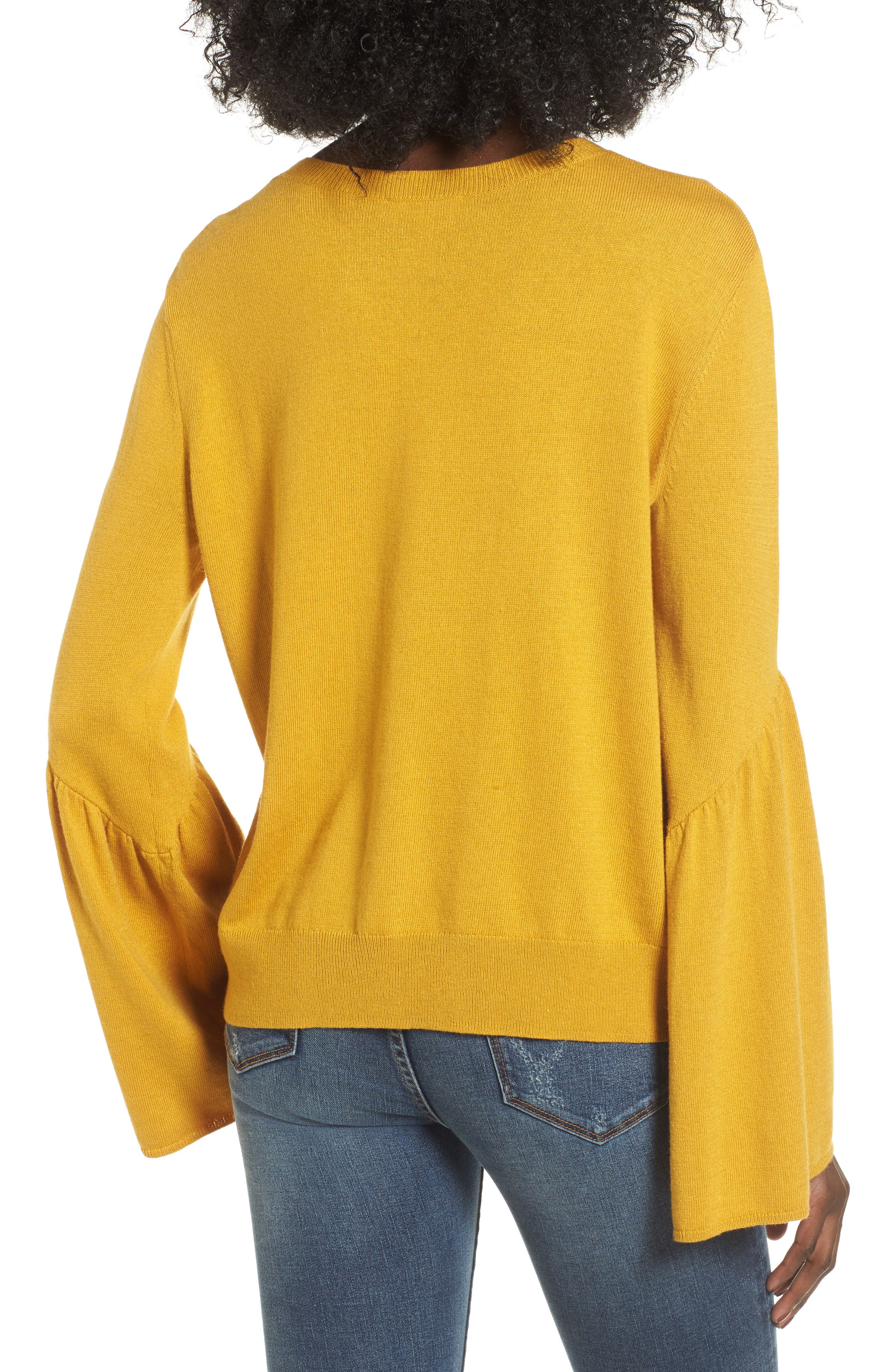 LEITH,                             Bell Sleeve Sweater,                             Alternate thumbnail 2, color,                             700