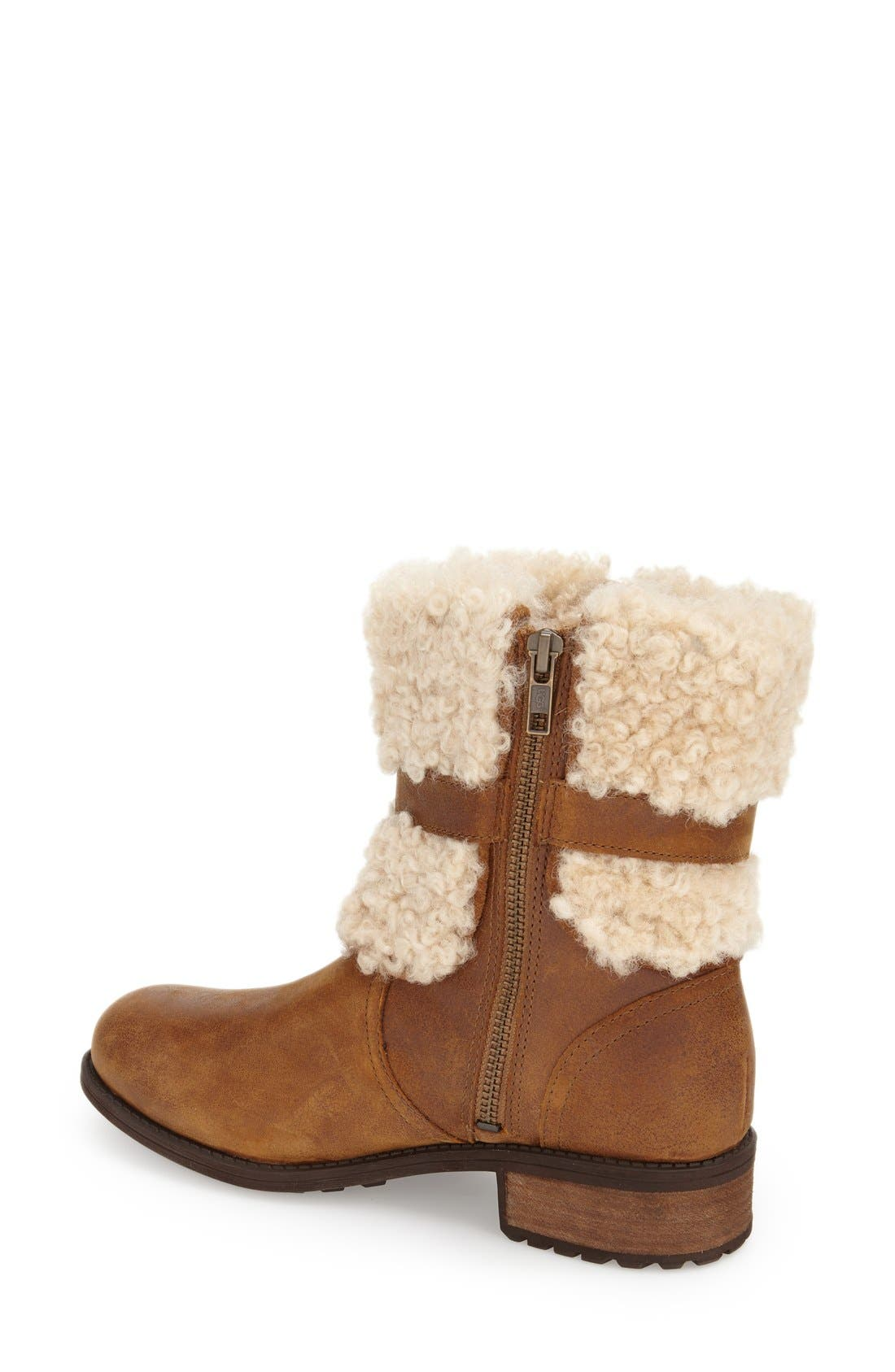 Blayre II Shearling Cuff Bootie,                             Alternate thumbnail 2, color,                             219