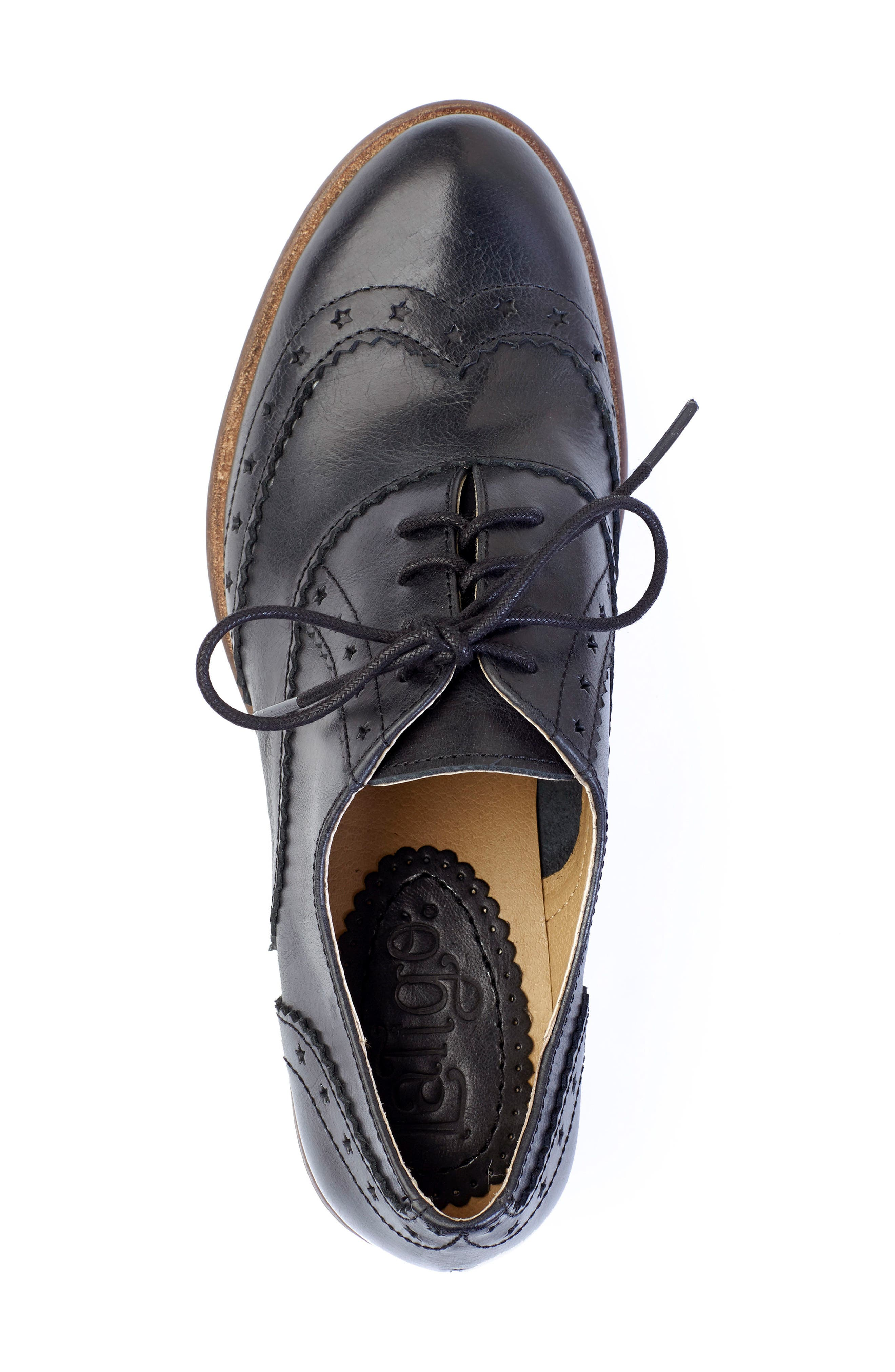 Heart Lace-Up Loafer,                             Alternate thumbnail 4, color,                             001