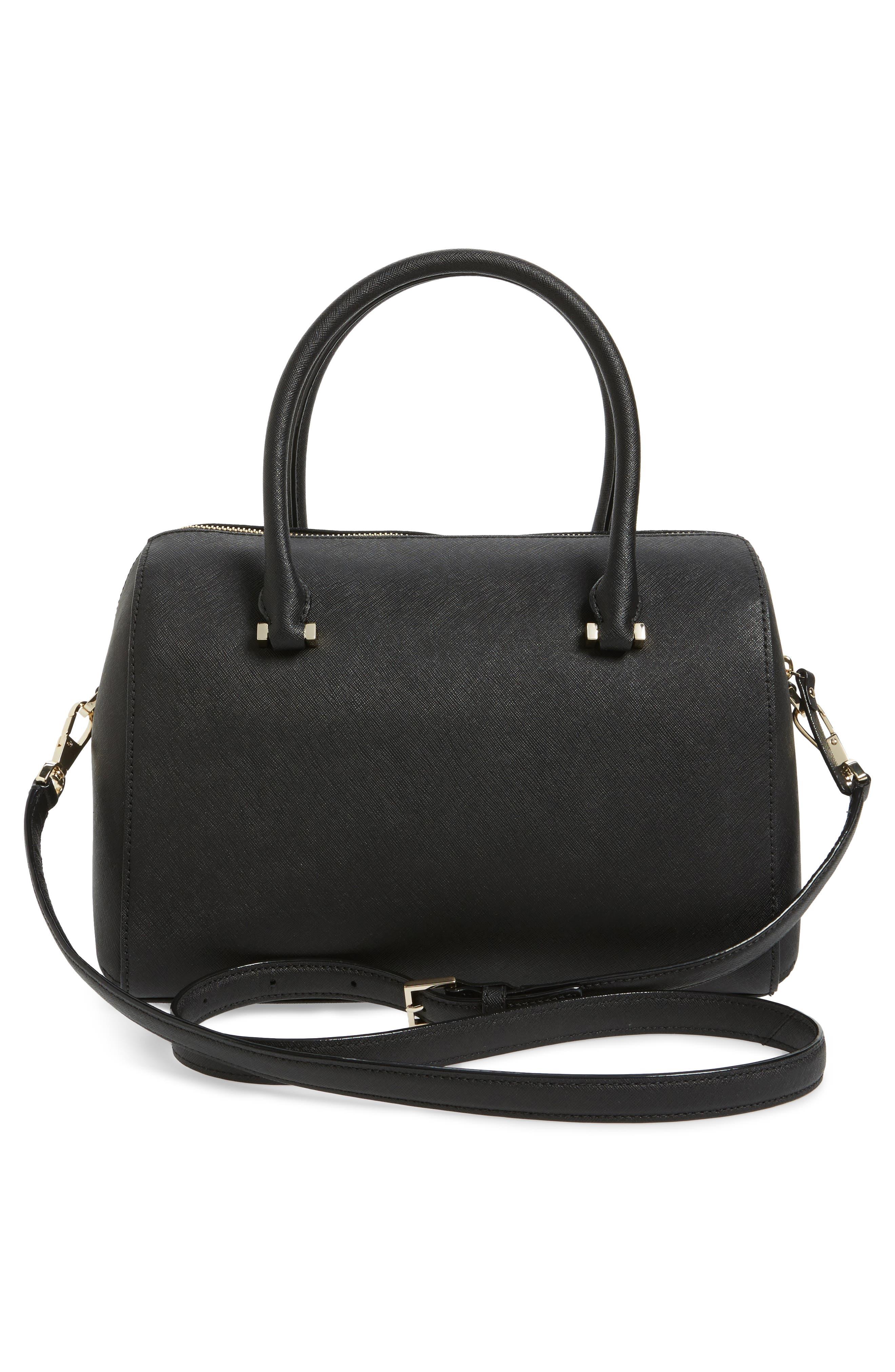 mega cameron street - lane leather satchel,                             Alternate thumbnail 3, color,                             001