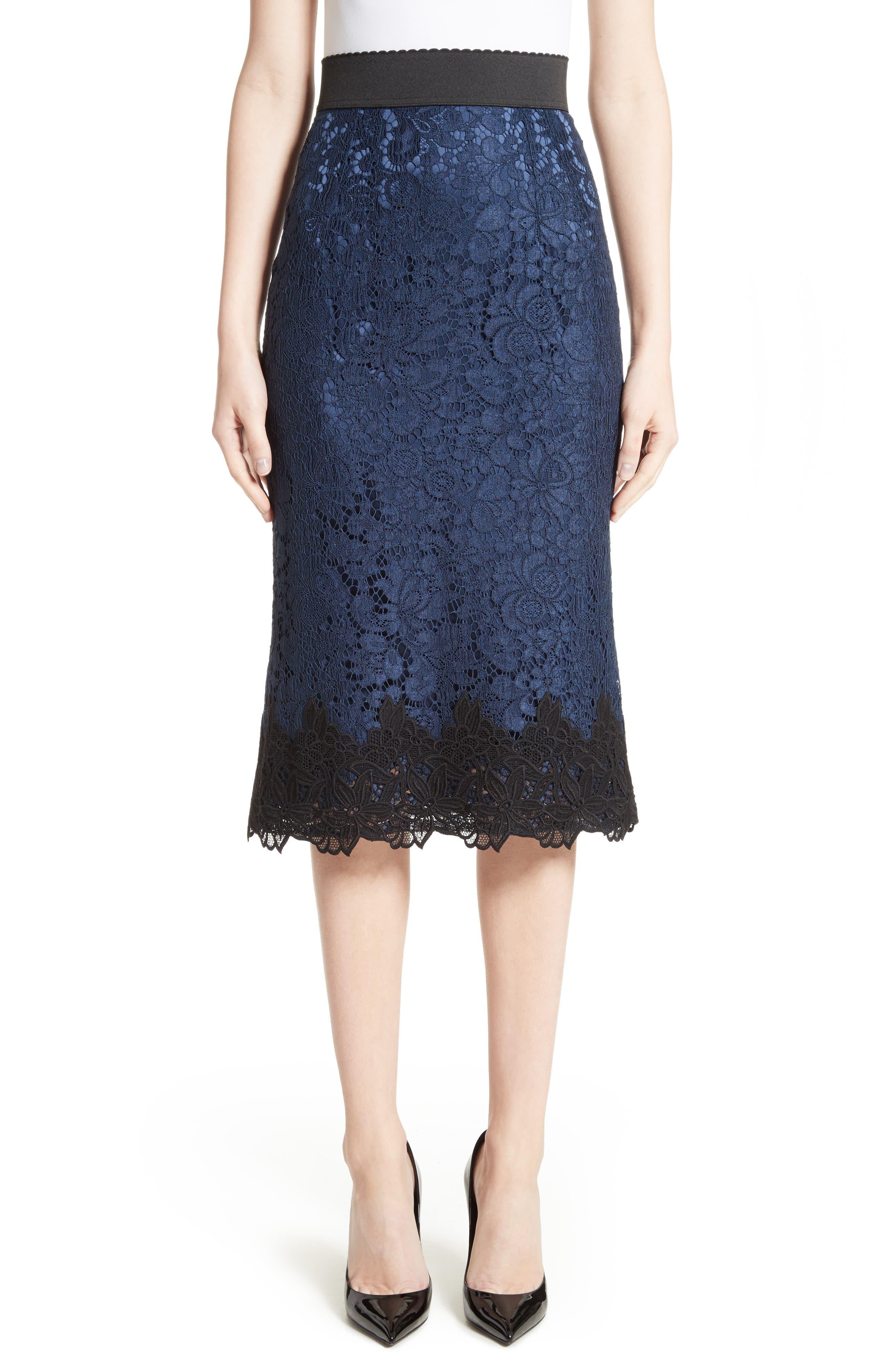 Lace Pencil Skirt,                             Main thumbnail 1, color,