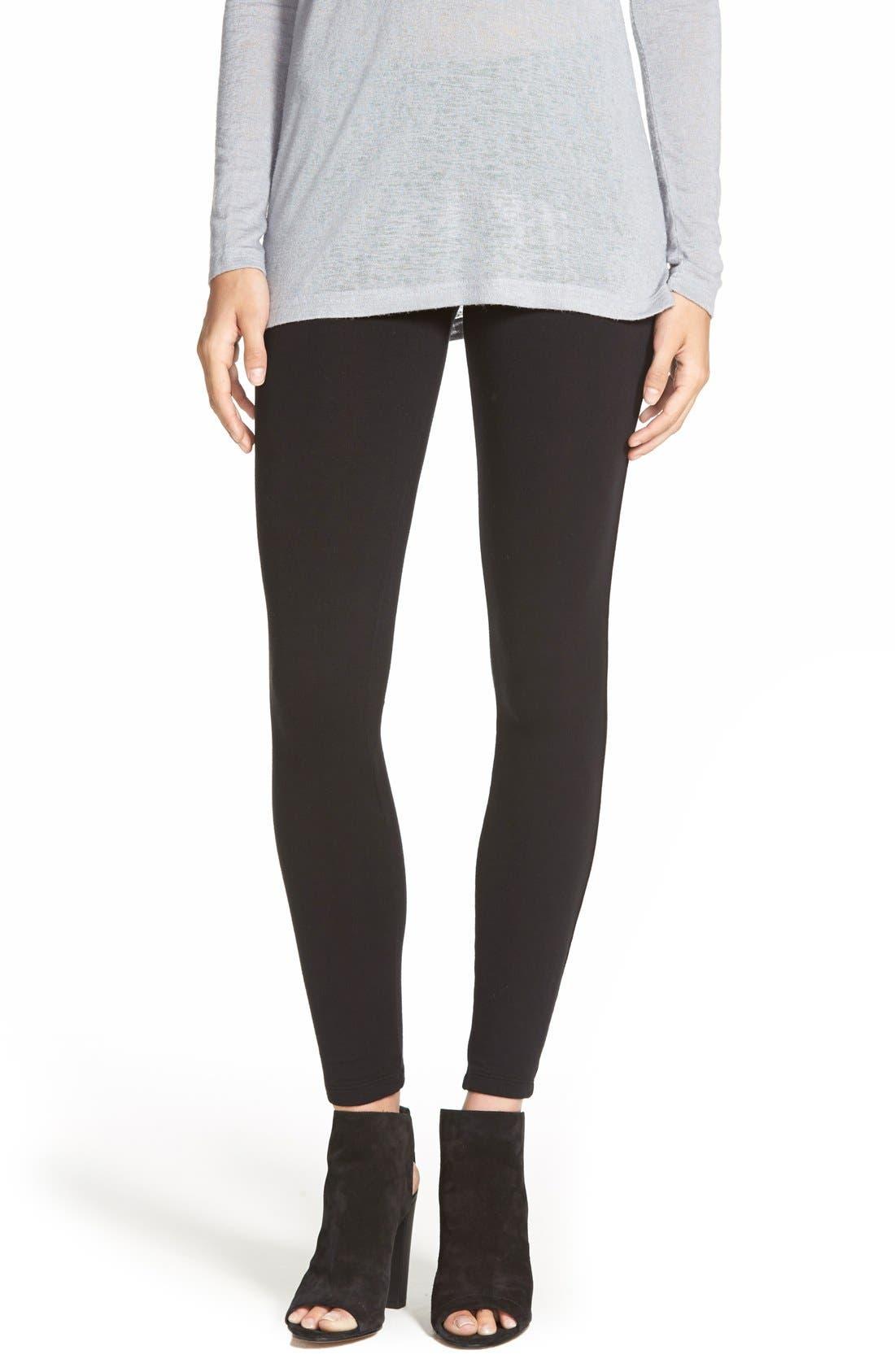 SPLENDID Stretch Cotton Leggings, Main, color, 001