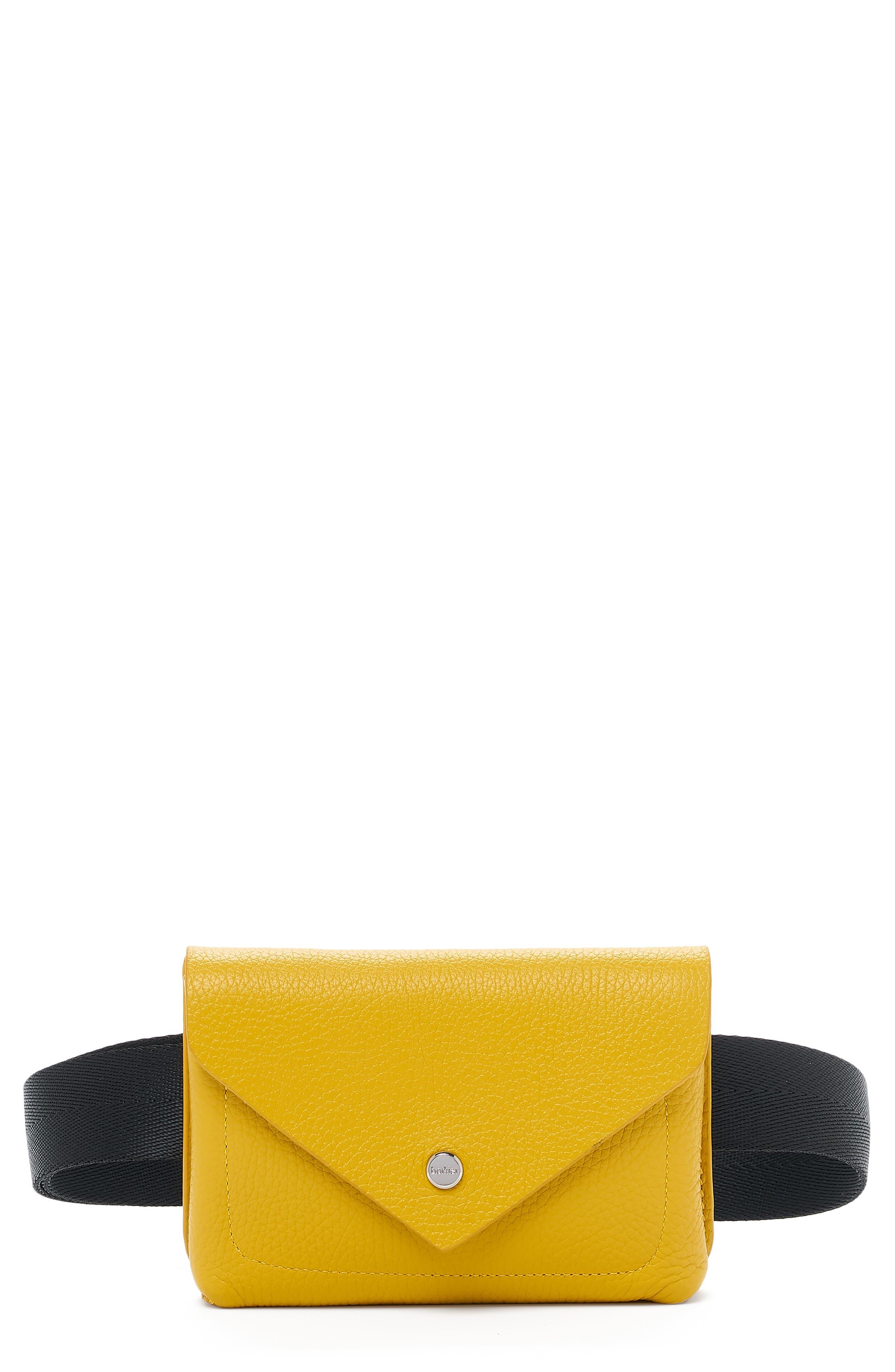 Vivi Calfskin Leather Belt Bag - Yellow in Marigold