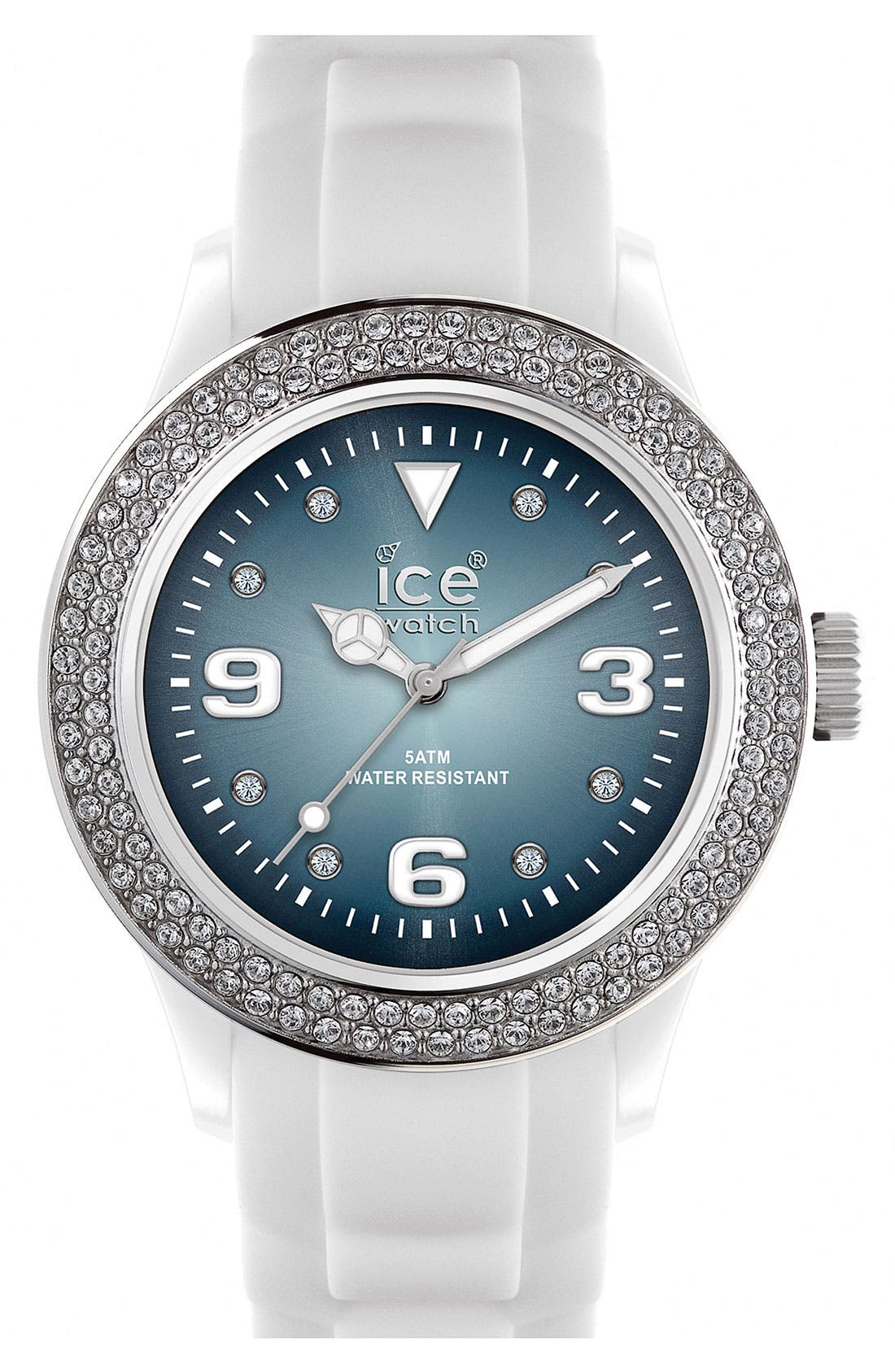 Color Dial Crystal Bezel Watch, 43mm,                             Main thumbnail 1, color,                             100