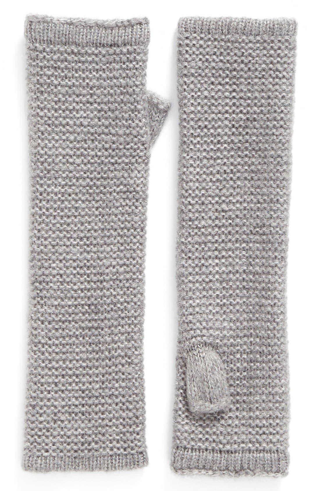Garter Stitch Fingerless Gloves,                             Main thumbnail 5, color,