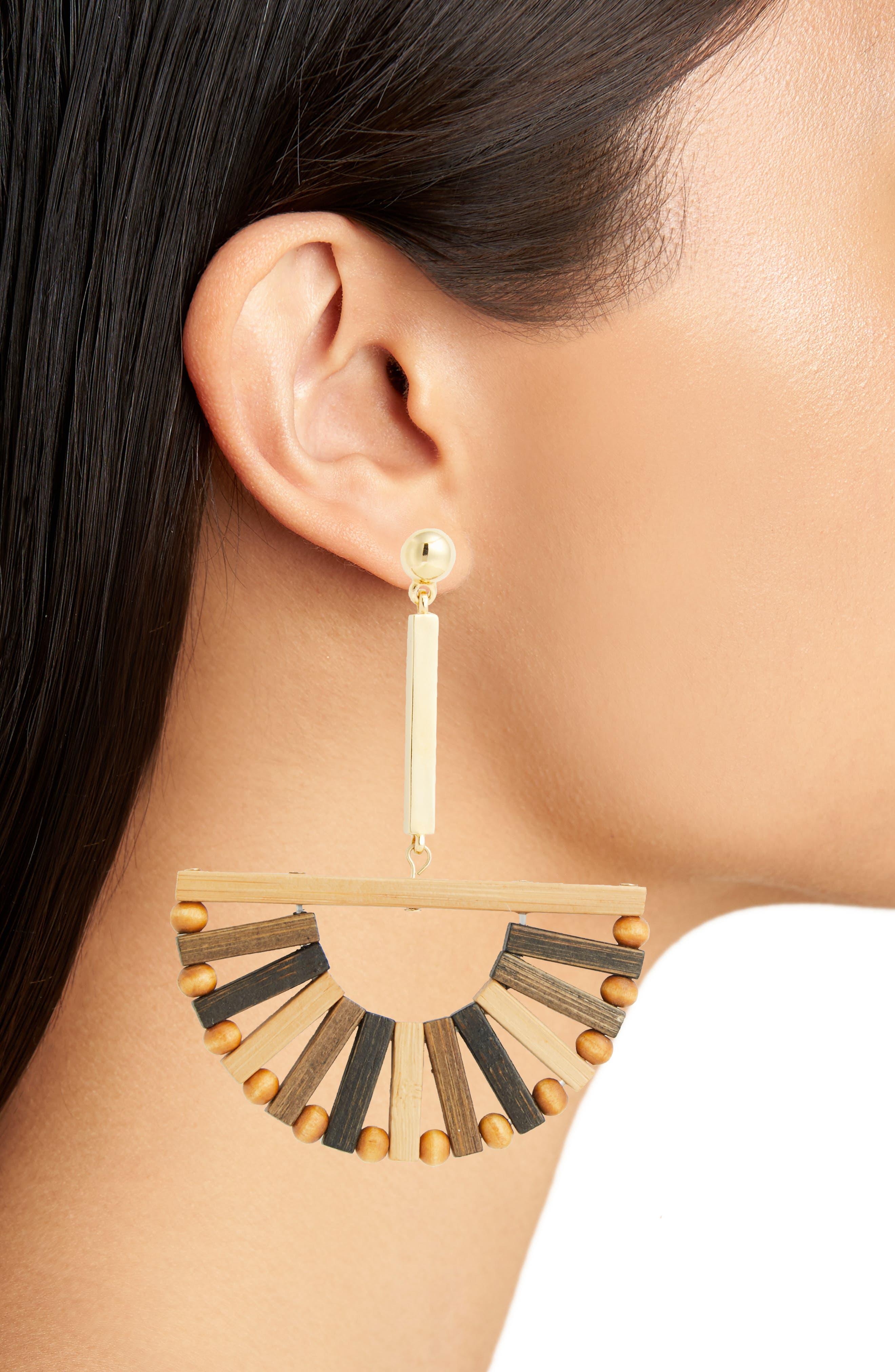 Ark Earrings,                             Alternate thumbnail 2, color,                             MULTI