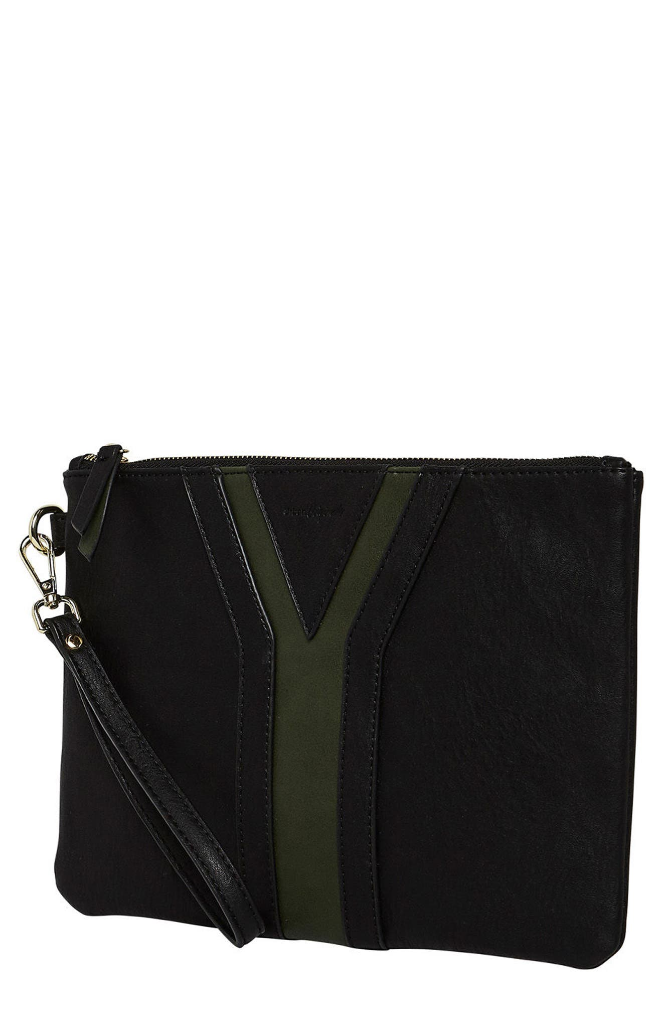 All She Wants Vegan Leather Clutch,                         Main,                         color,