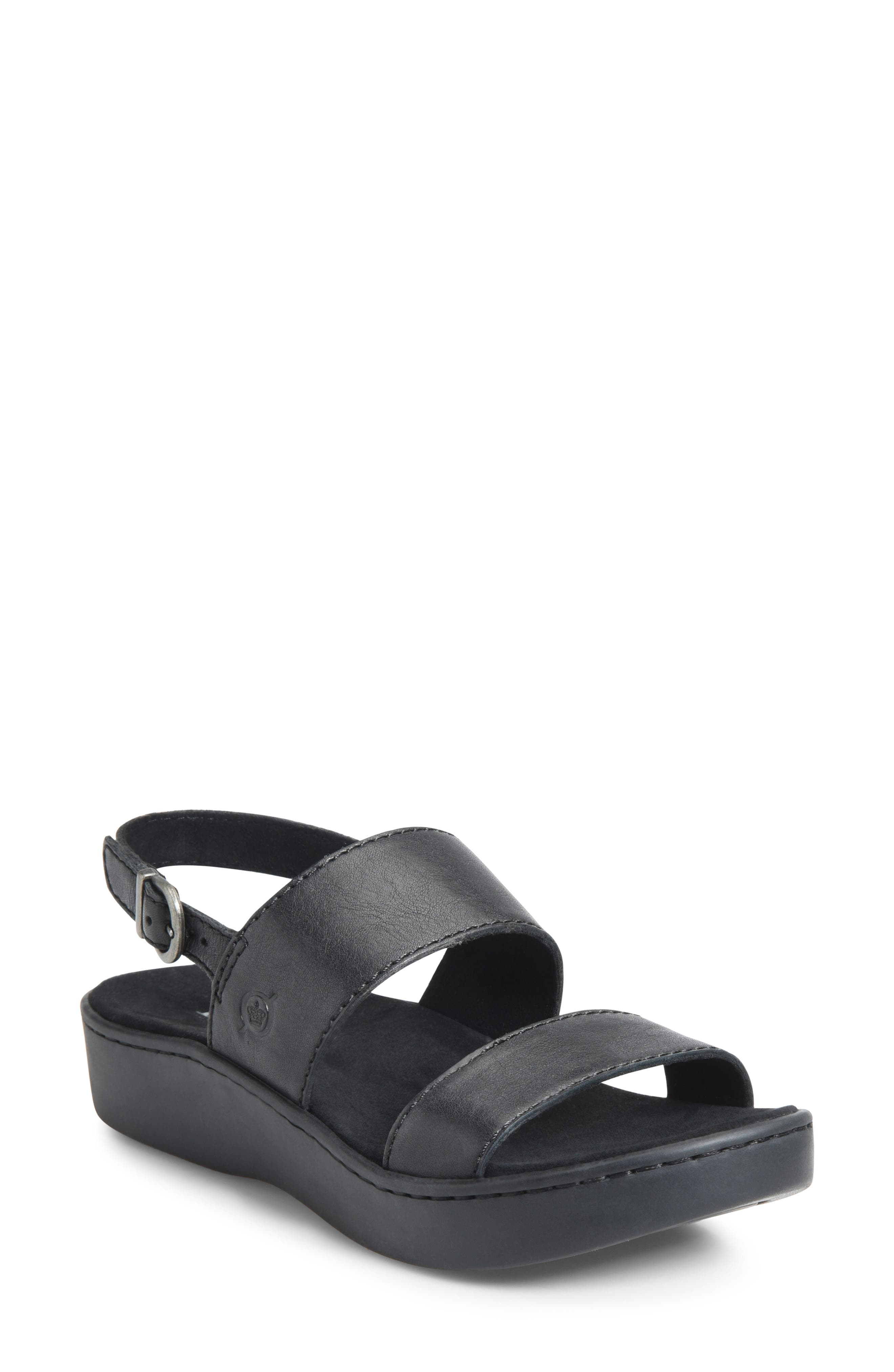 B?rn Oconee Platform Sandal, Black