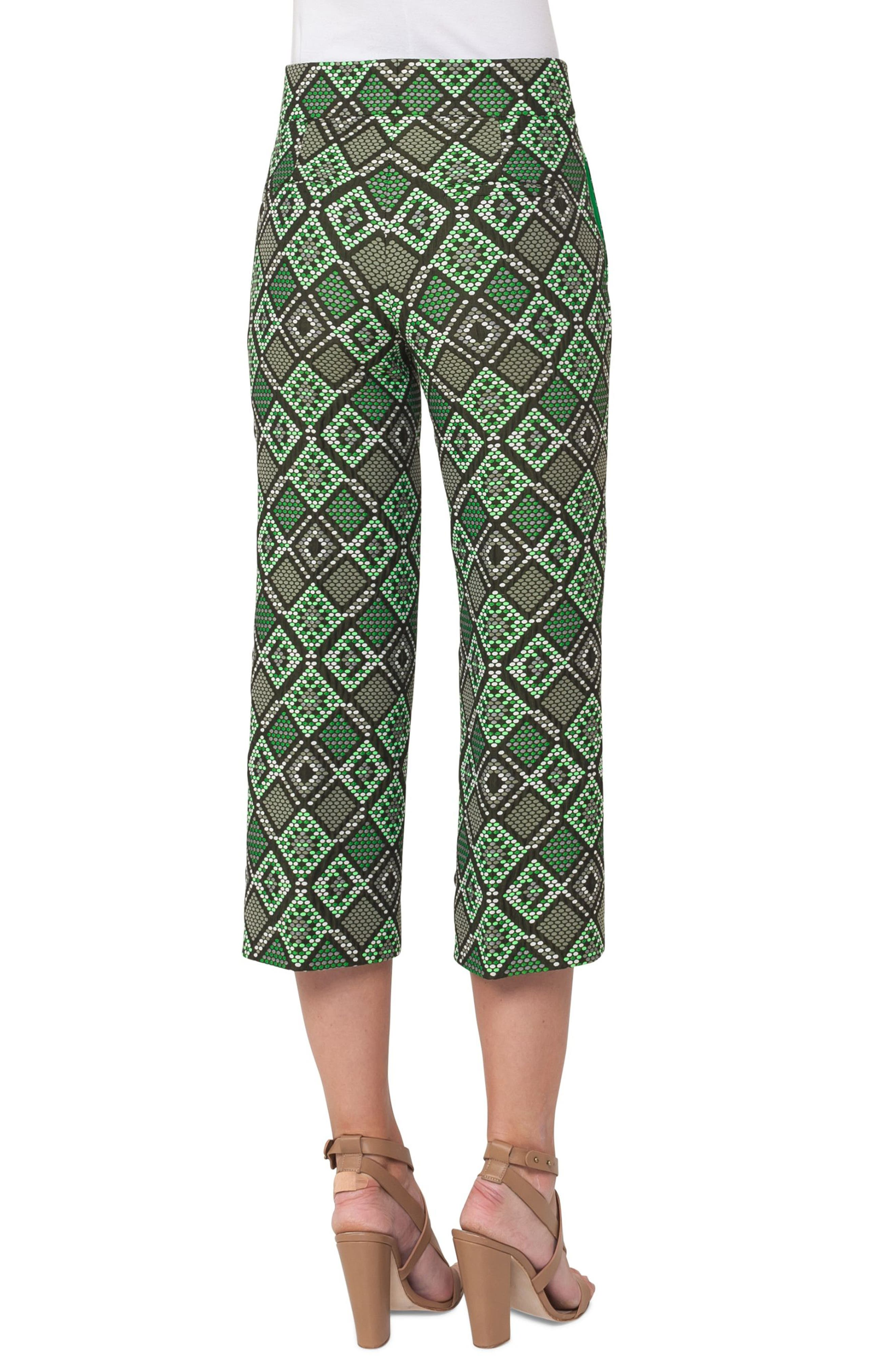 Madison Print Jacquard Crop Pants,                             Alternate thumbnail 2, color,                             300