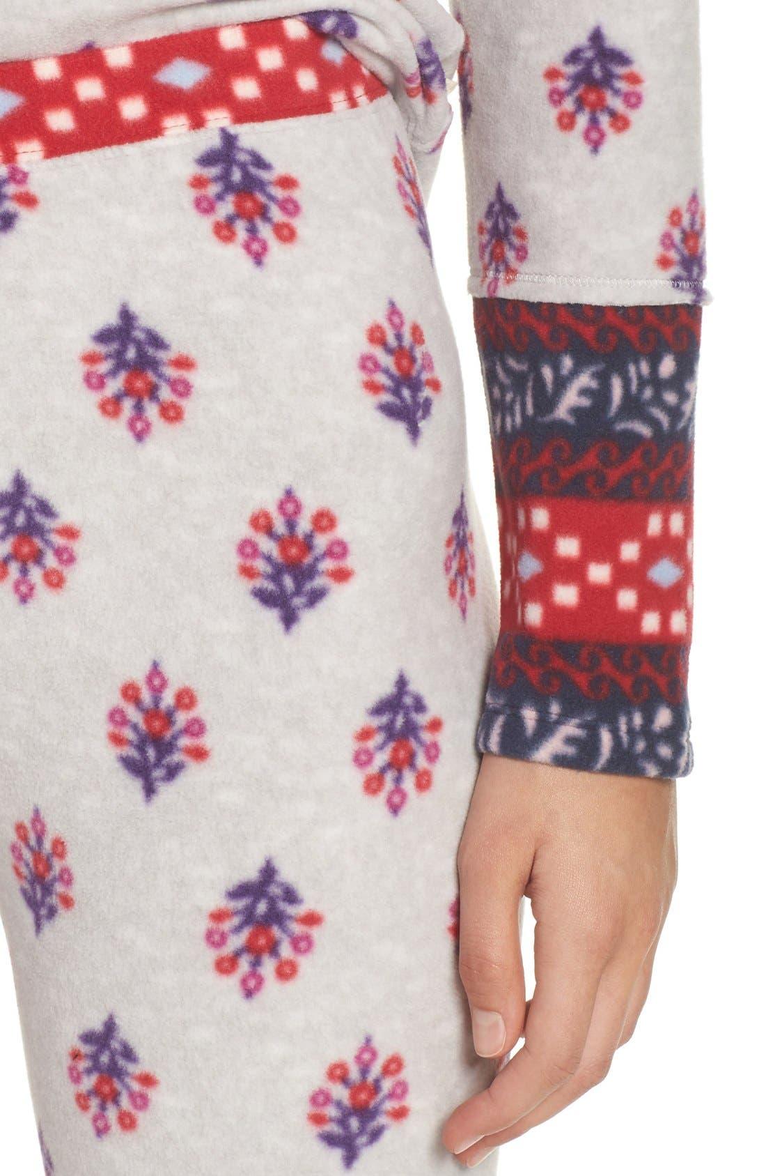 Print Fleece Pajamas,                             Alternate thumbnail 5, color,                             040