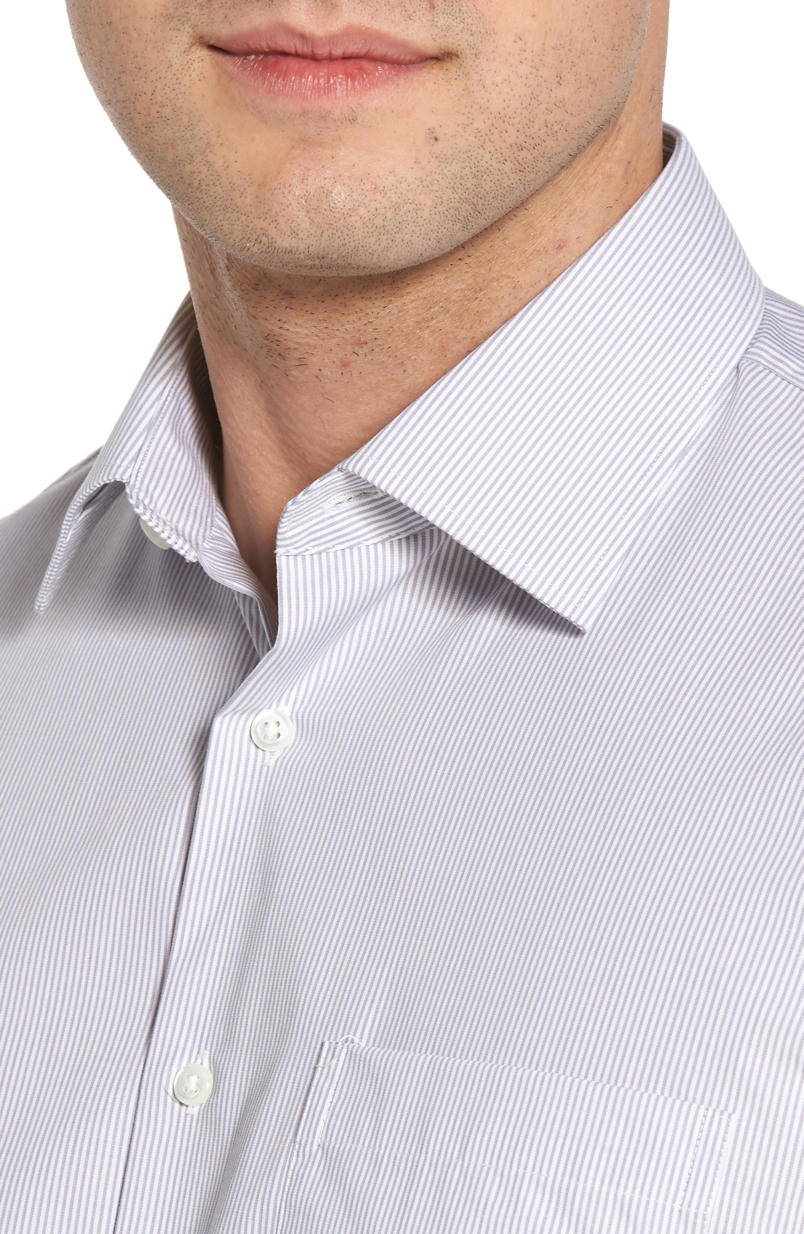 Smartcare<sup>™</sup> Traditional Fit Stripe Dress Shirt,                             Alternate thumbnail 2, color,                             051
