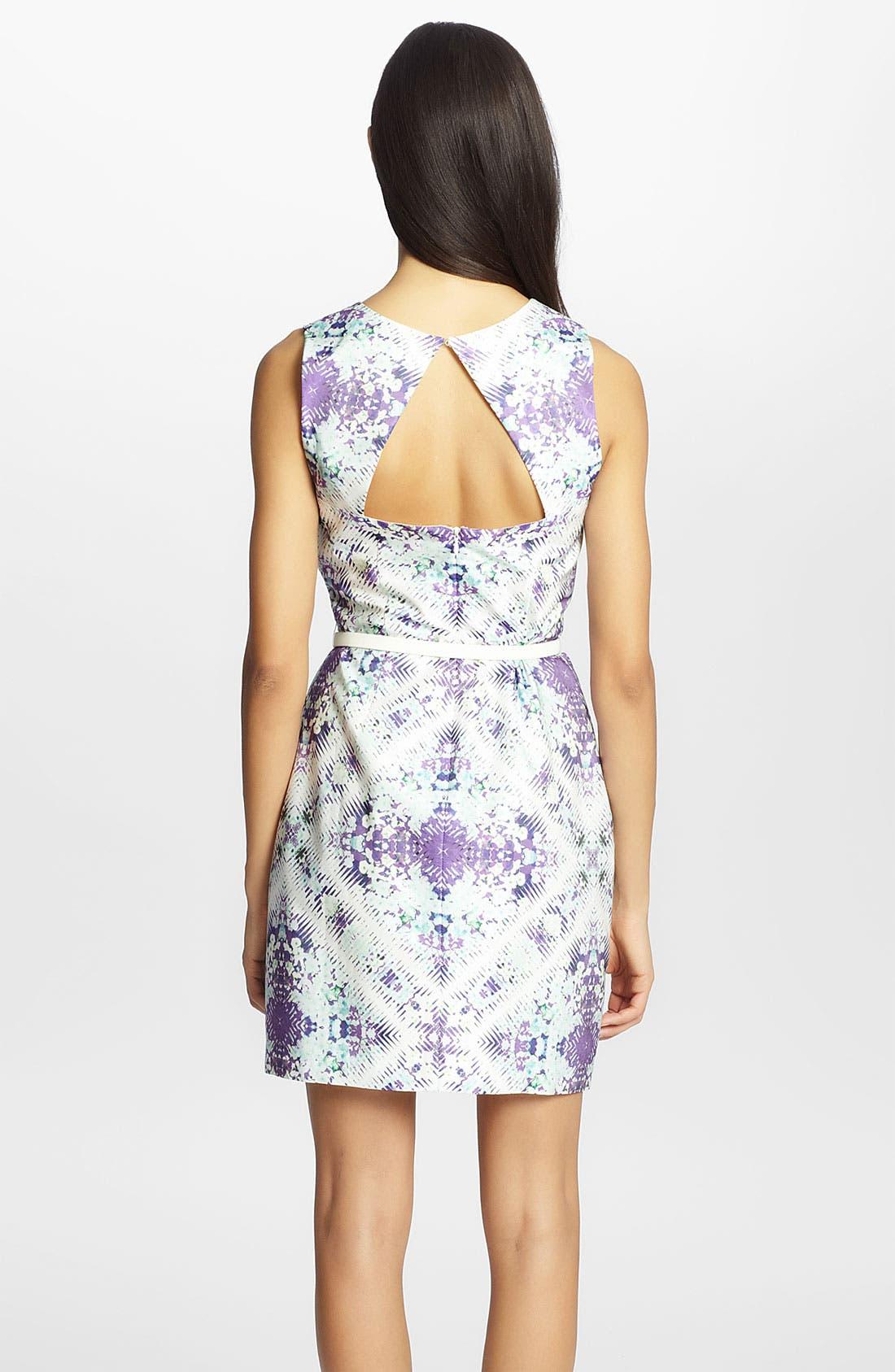 'Lucy' Print Sheath Dress,                             Alternate thumbnail 2, color,                             543