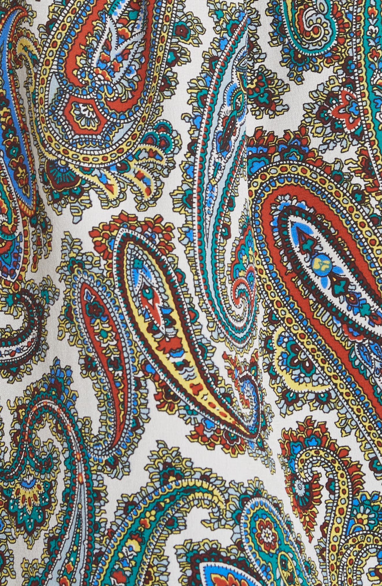 Paisley Silk Blouse,                             Alternate thumbnail 5, color,