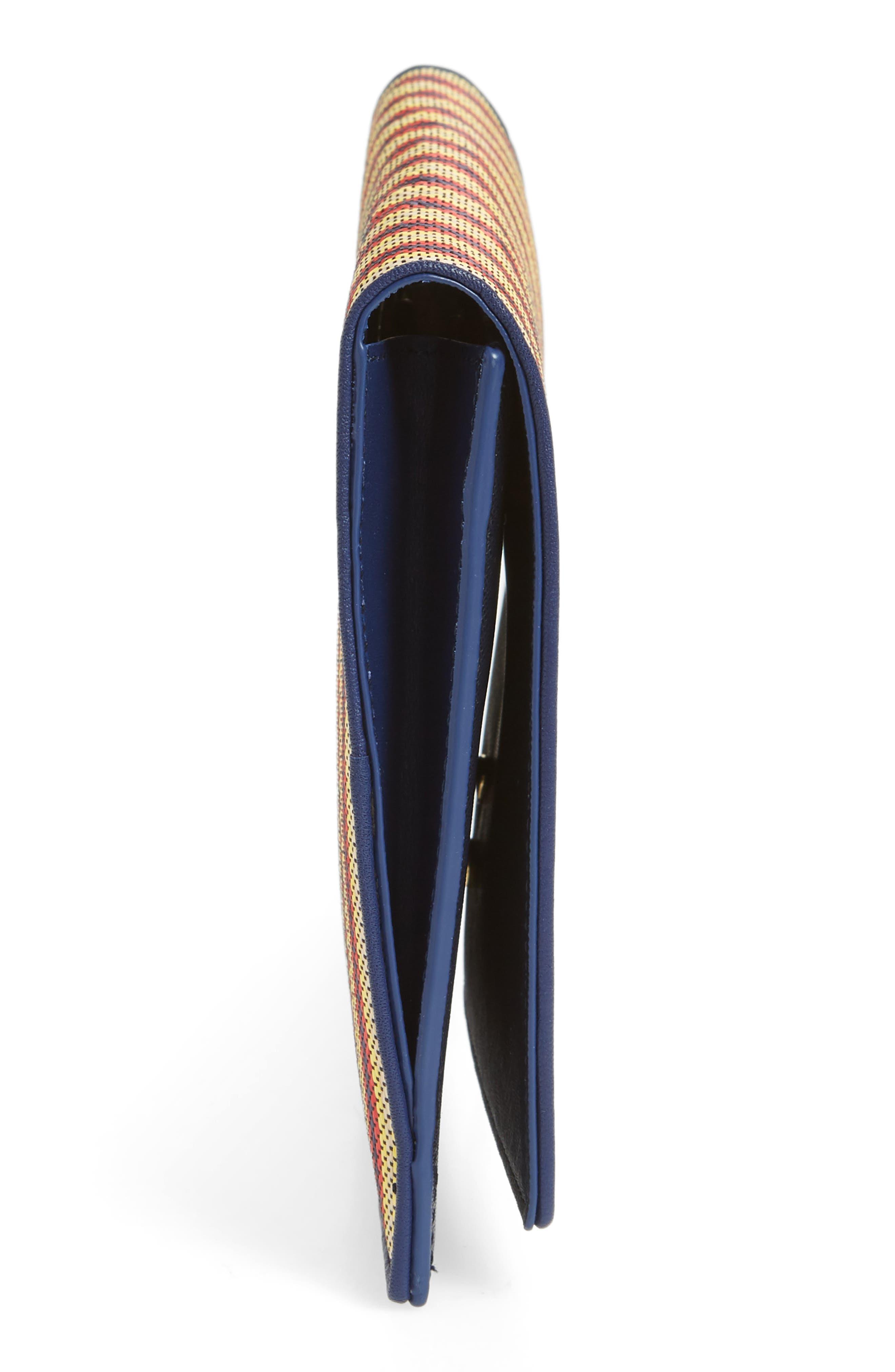 Large Raffia Flap Pouch,                             Alternate thumbnail 10, color,