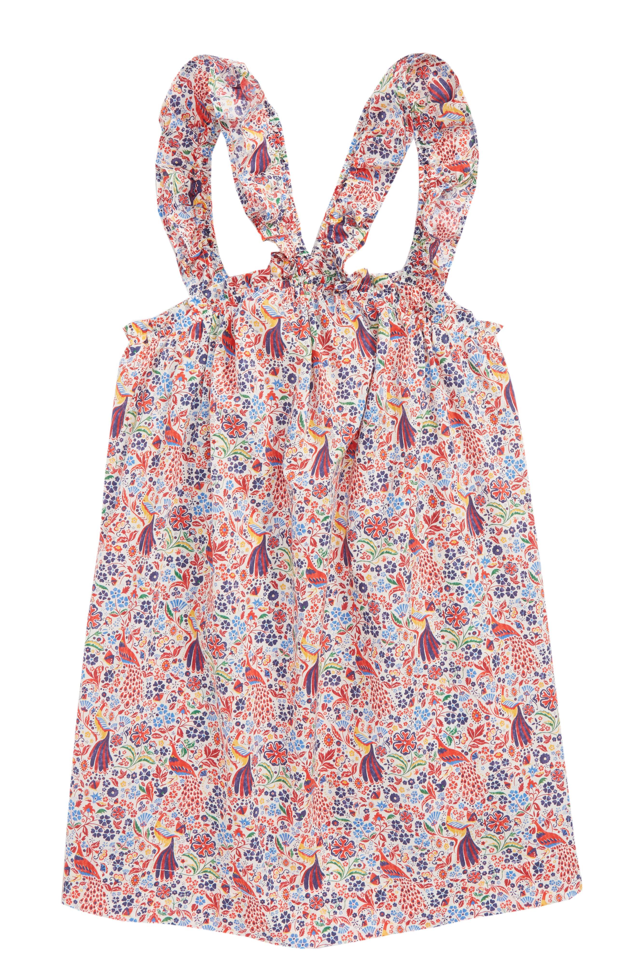 Liberty<sup>®</sup> Print Dress,                             Main thumbnail 1, color,                             650