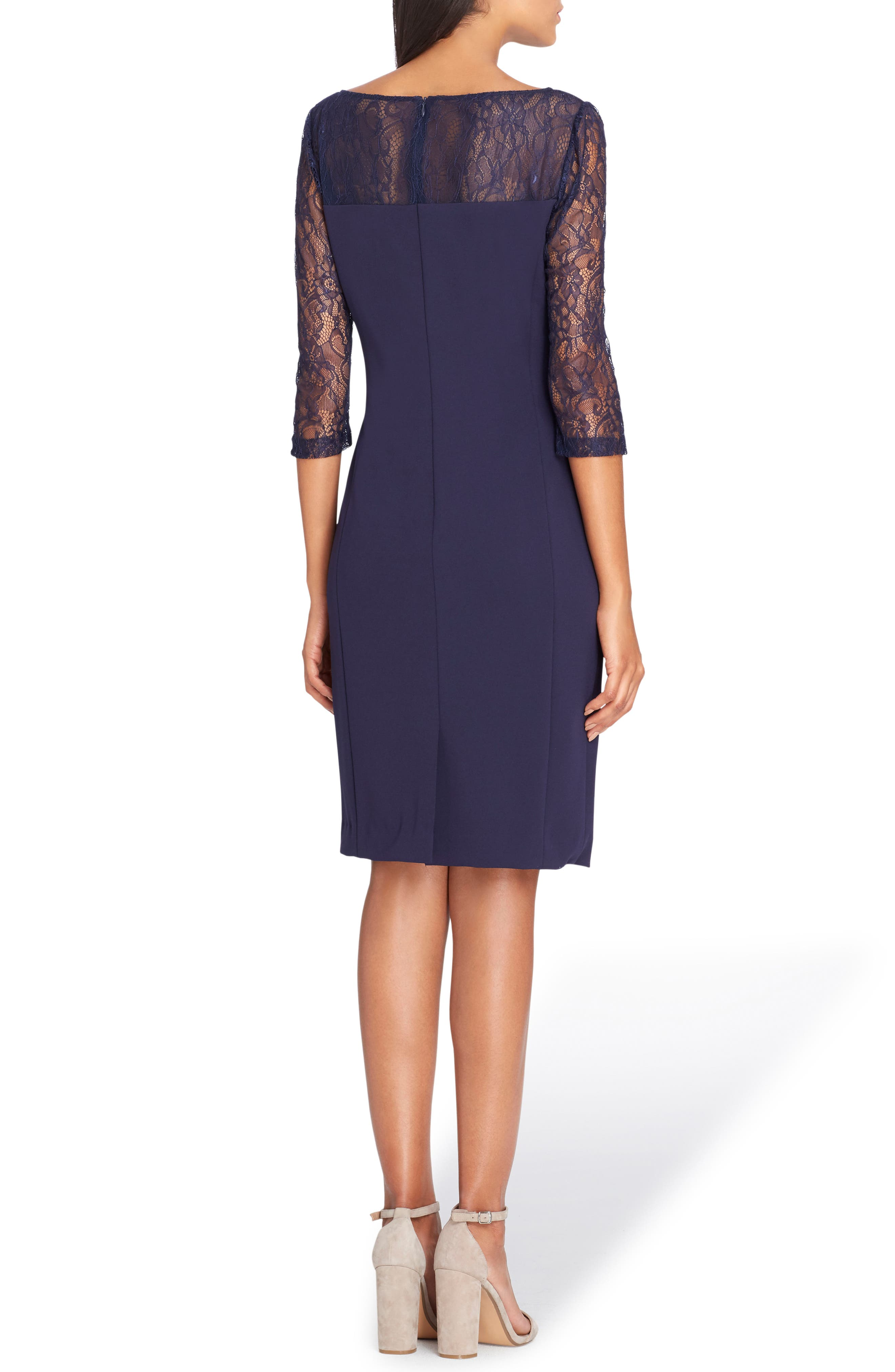 Sheer Illusion Lace Sheath Dress,                             Alternate thumbnail 2, color,                             412