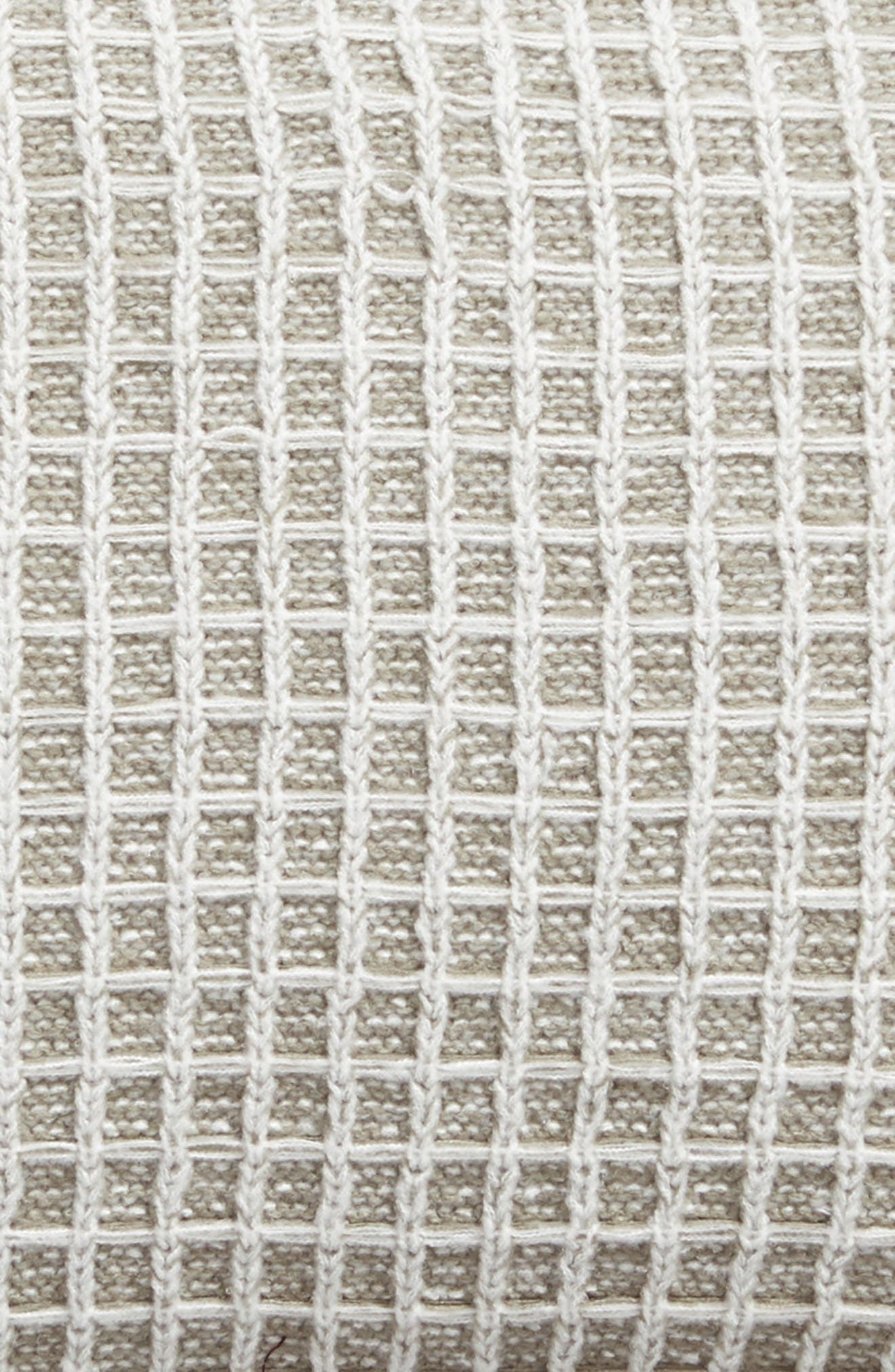 Soft Waffle Grid Accent Pillow,                             Alternate thumbnail 3, color,                             GREY WEATHER MULTI