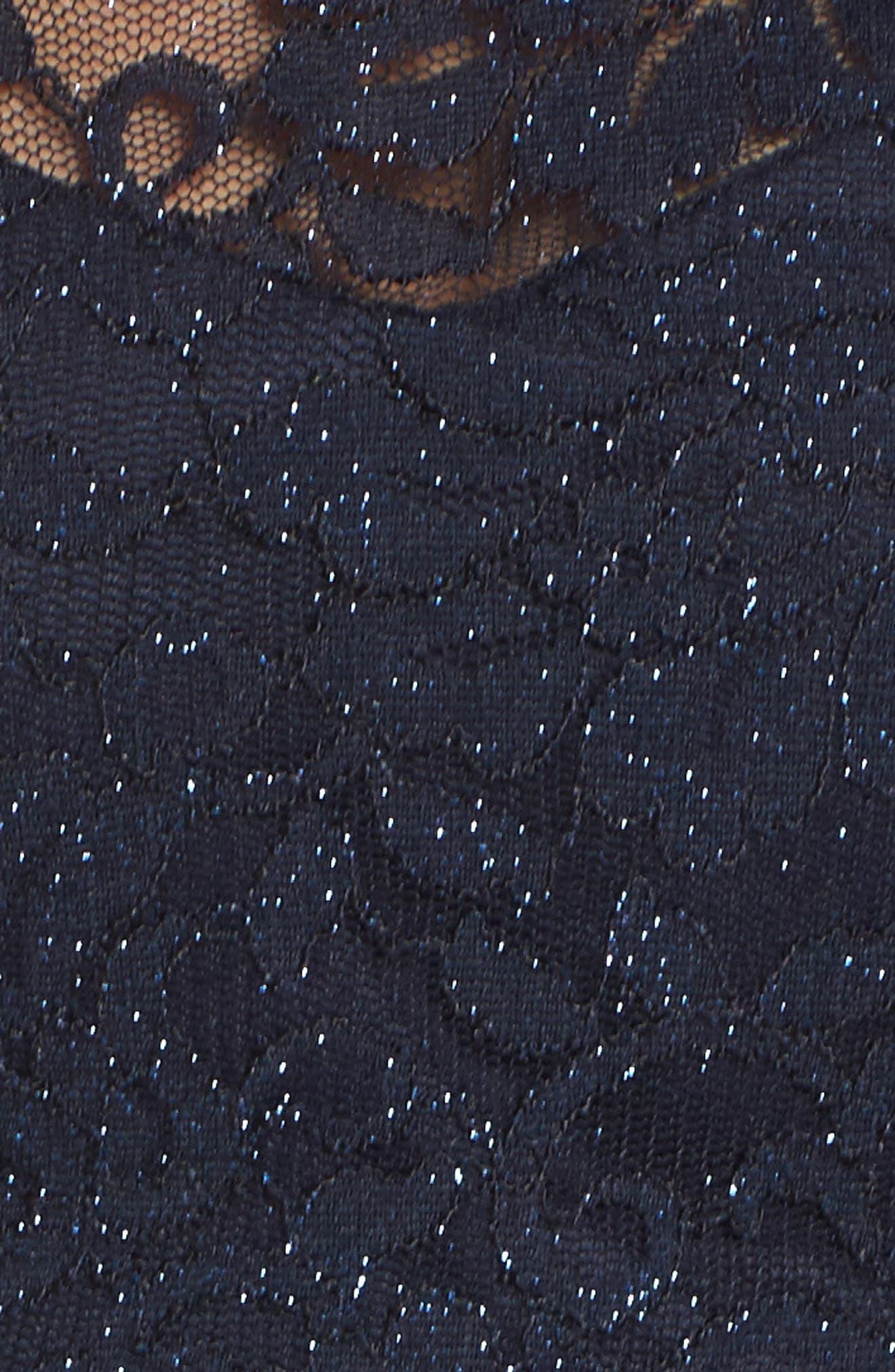Floral & Lace Two-Piece Gown,                             Alternate thumbnail 5, color,                             410