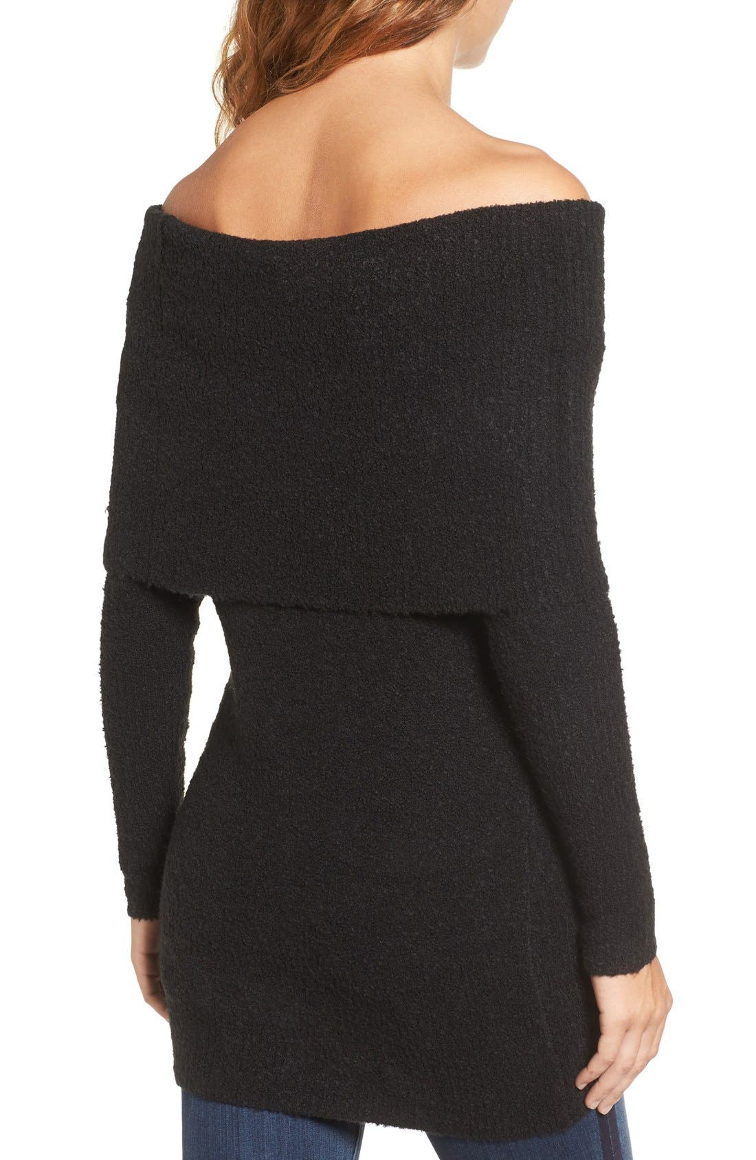 Off the Shoulder Tunic,                             Alternate thumbnail 2, color,                             001