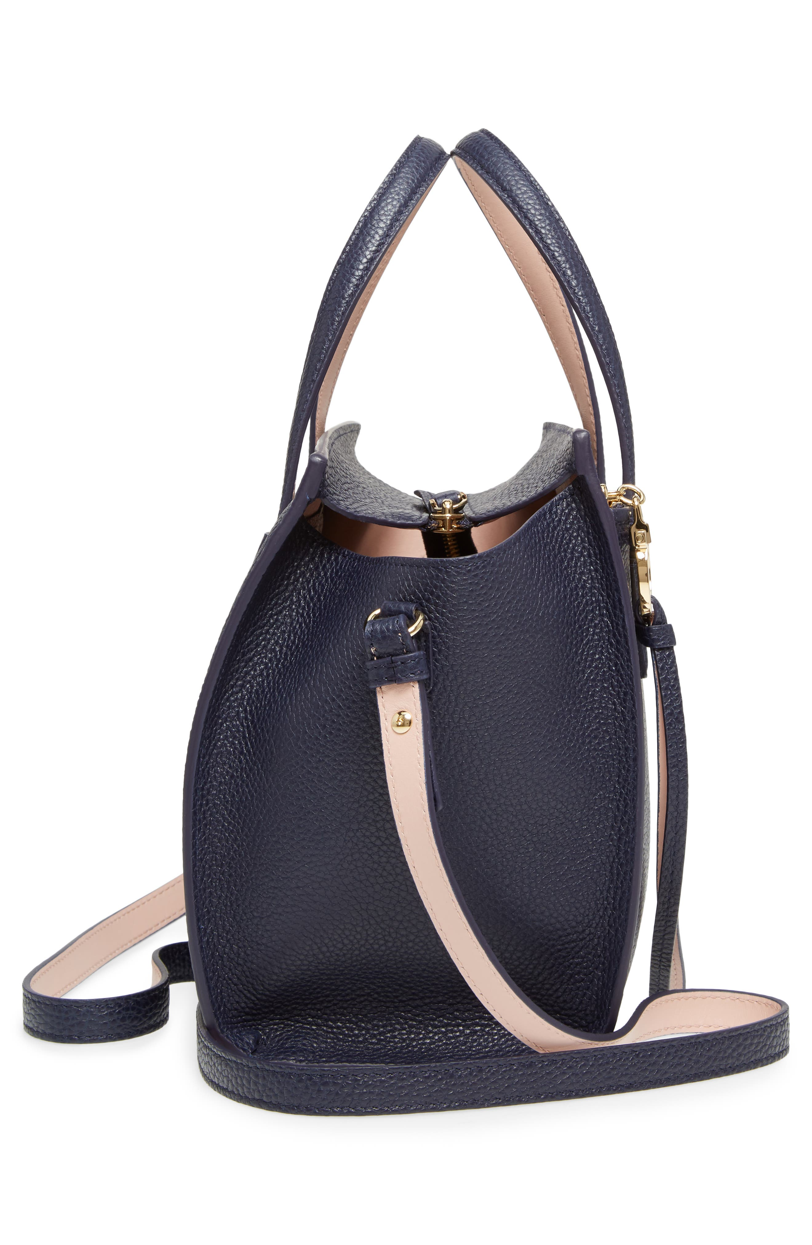 Small Amy Bicolor Leather Tote,                             Alternate thumbnail 5, color,                             292