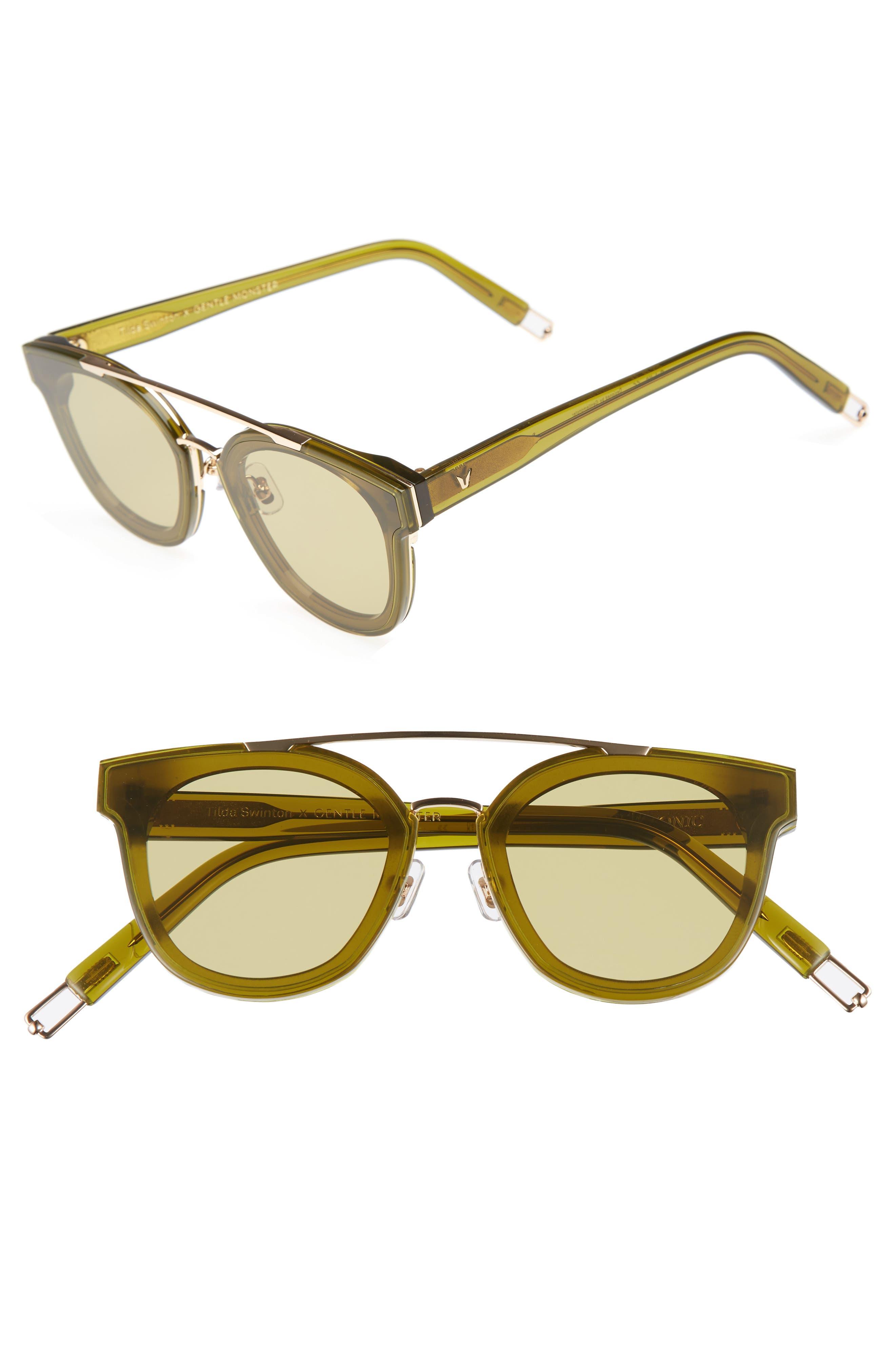 Tilda Swinton x Gentle Monster Newtonic 60mm Rounded Sunglasses,                             Main thumbnail 3, color,