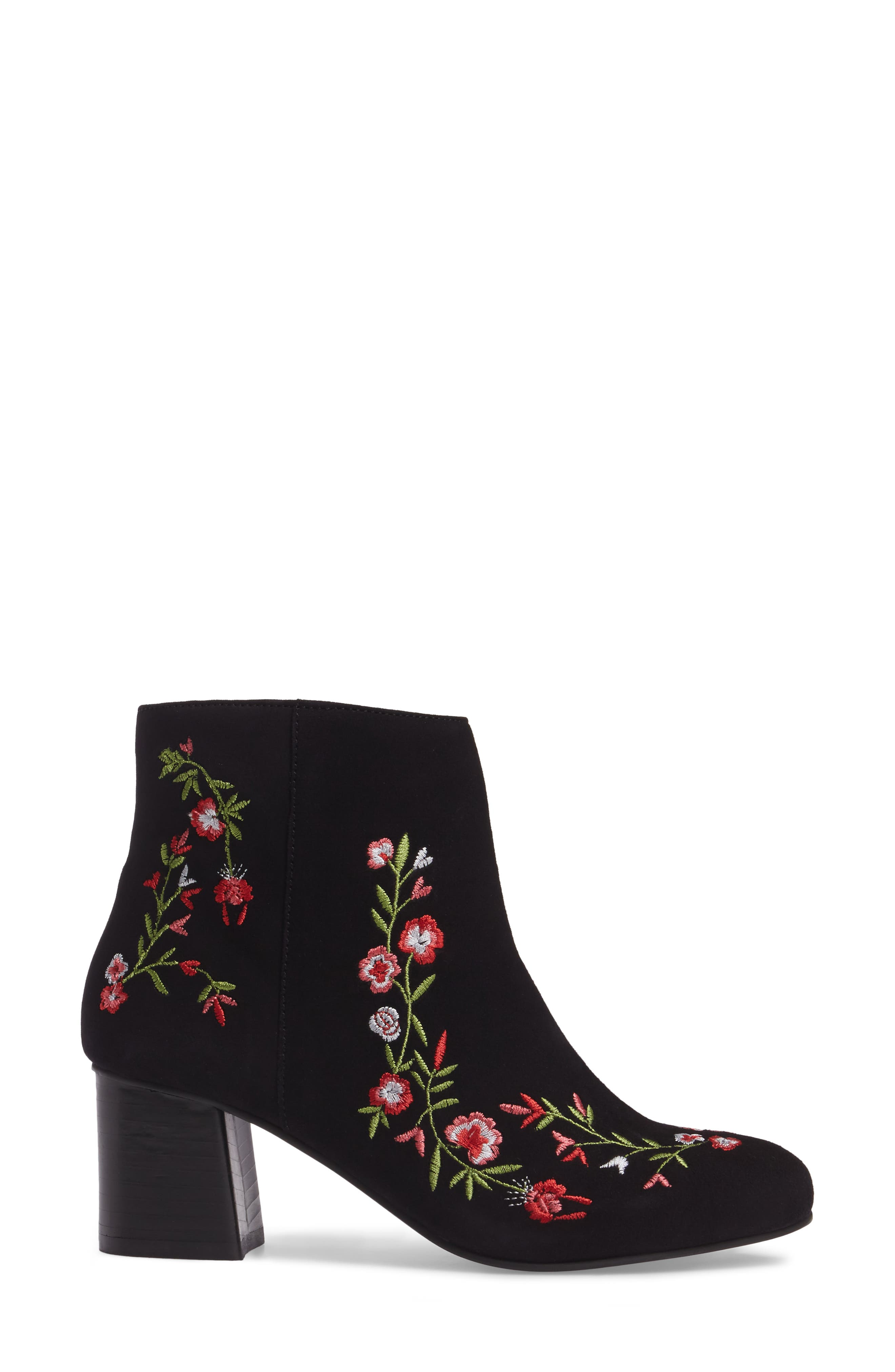 Veronaa Embroidered Bootie,                             Alternate thumbnail 3, color,                             003