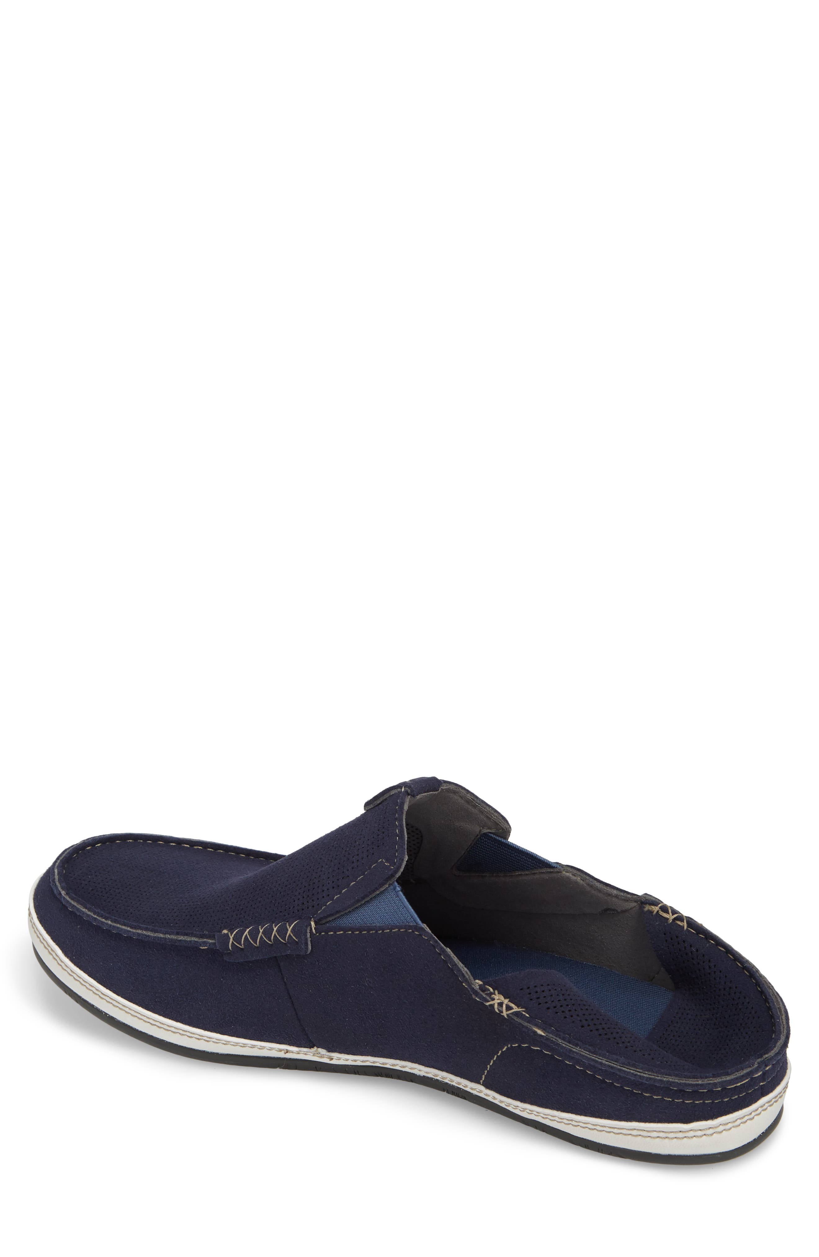 Kauwela Collapsible Slip-On,                             Alternate thumbnail 3, color,                             TRENCH BLUE/ OFF WHITE