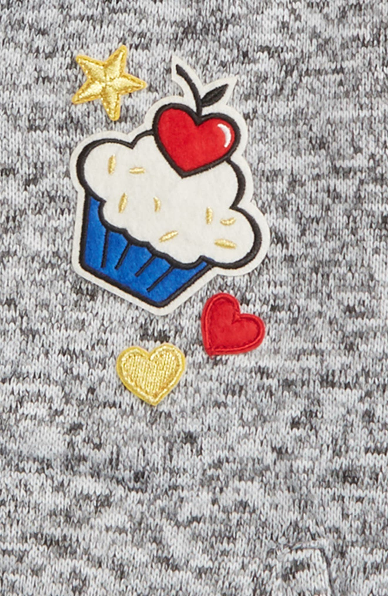 Cupcake Appliqué Bomber Jacket,                             Alternate thumbnail 2, color,                             600