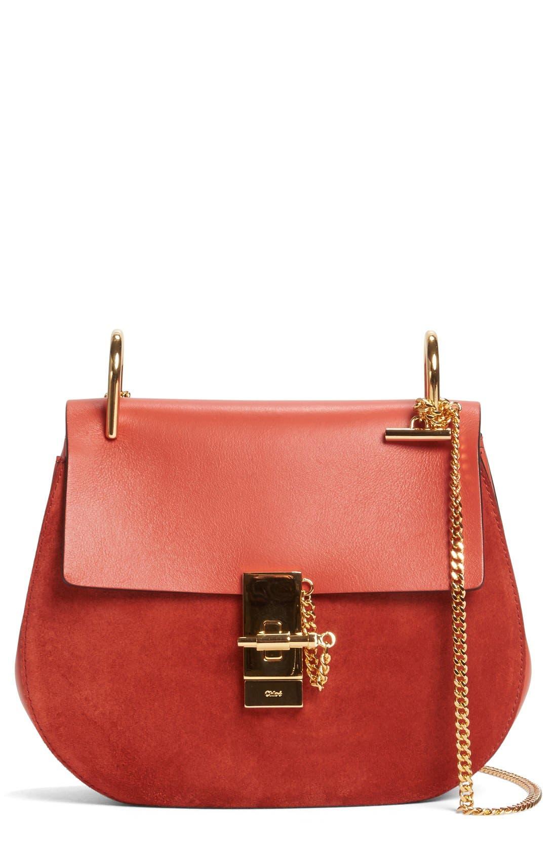 'Mini Drew' Leather Crossbody Bag,                             Main thumbnail 1, color,                             626