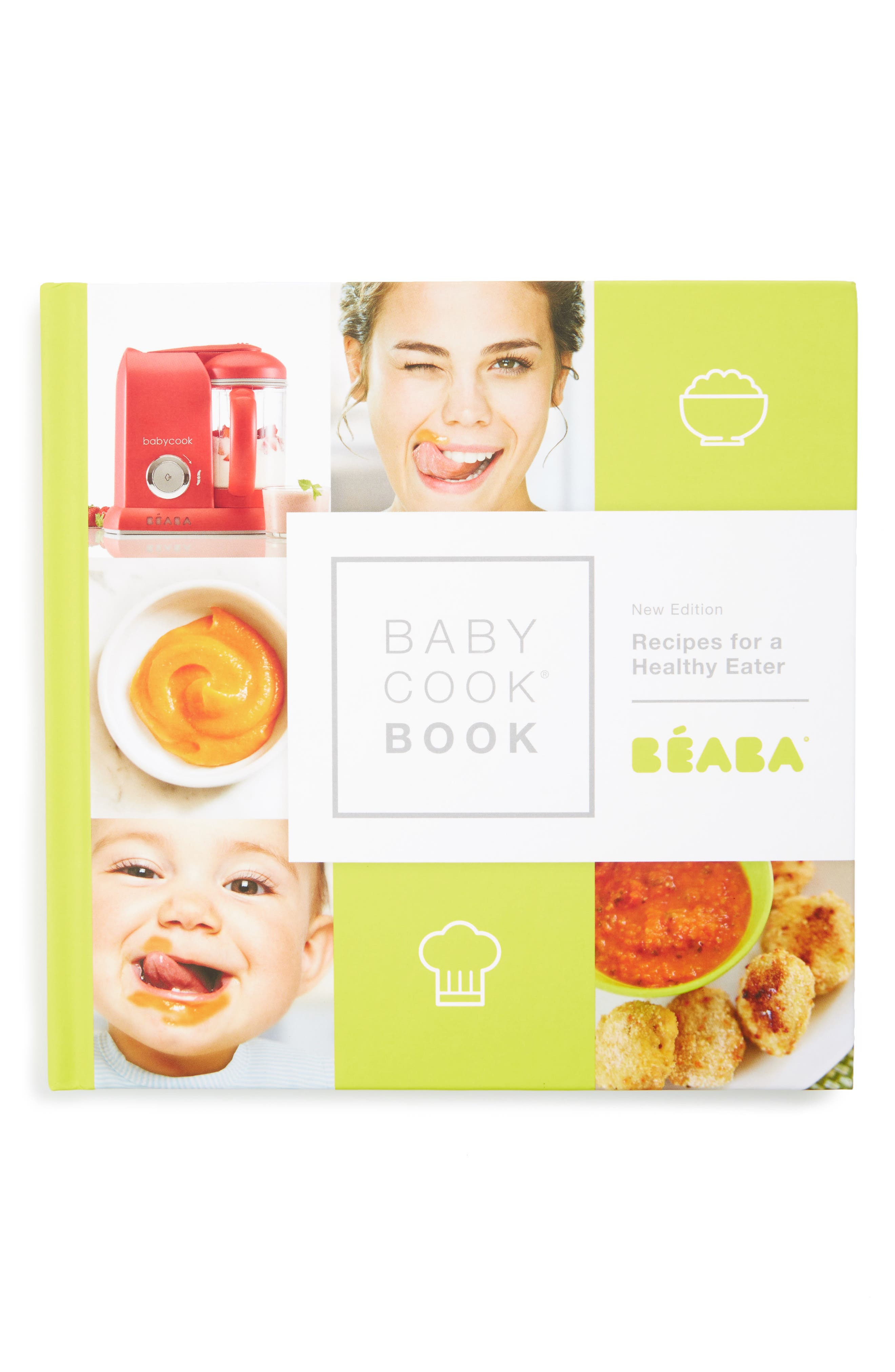 'Babycook<sup>®</sup> Book: Recipes For a Healthy Eater - New Edition' Recipe Book,                             Main thumbnail 1, color,                             WHITE