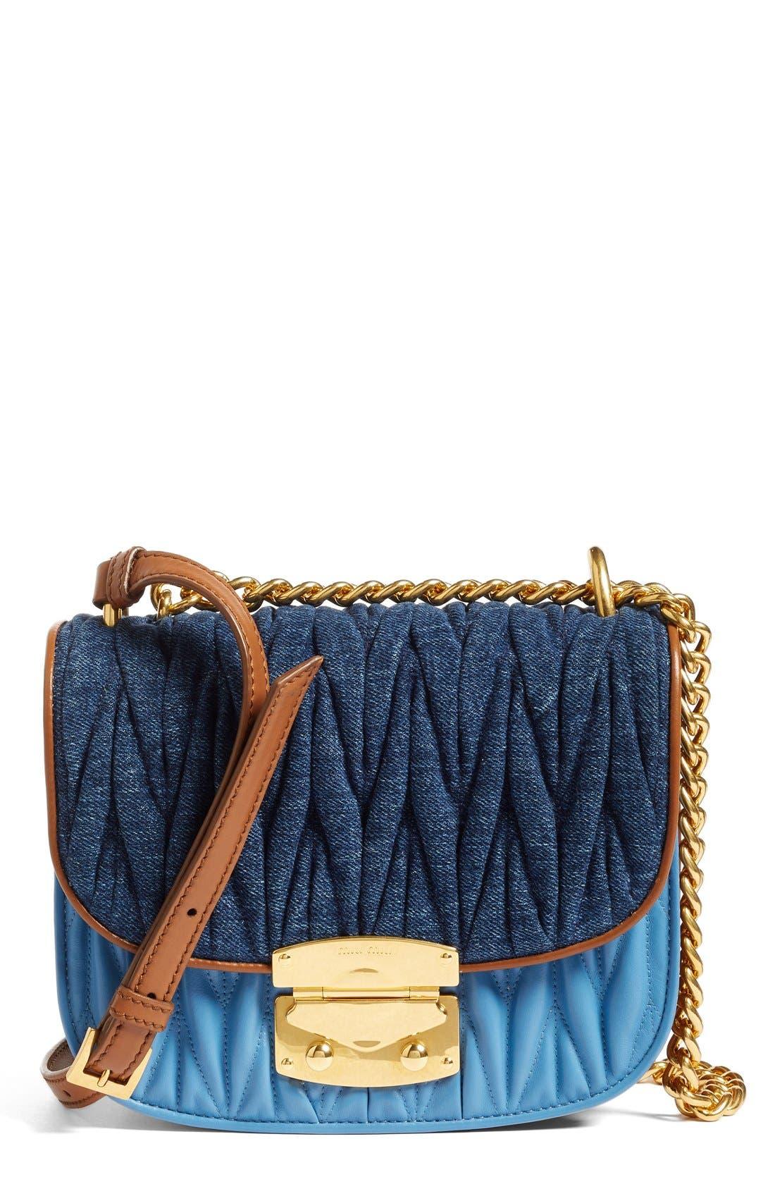 Matelassé Crossbody Bag,                         Main,                         color, 901
