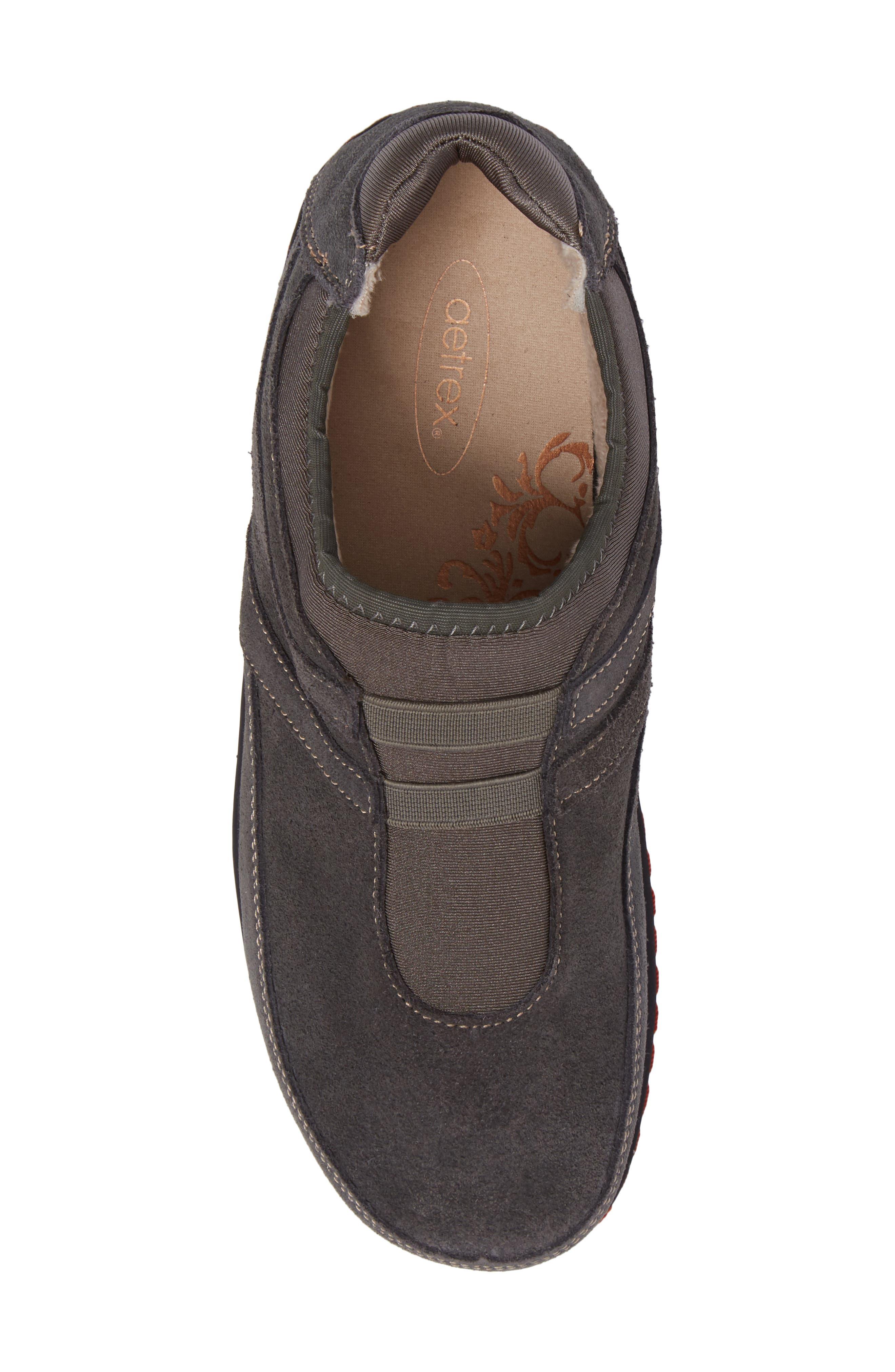 Berries Slip-On Sneaker,                             Alternate thumbnail 5, color,                             GREYBERRY SUEDE